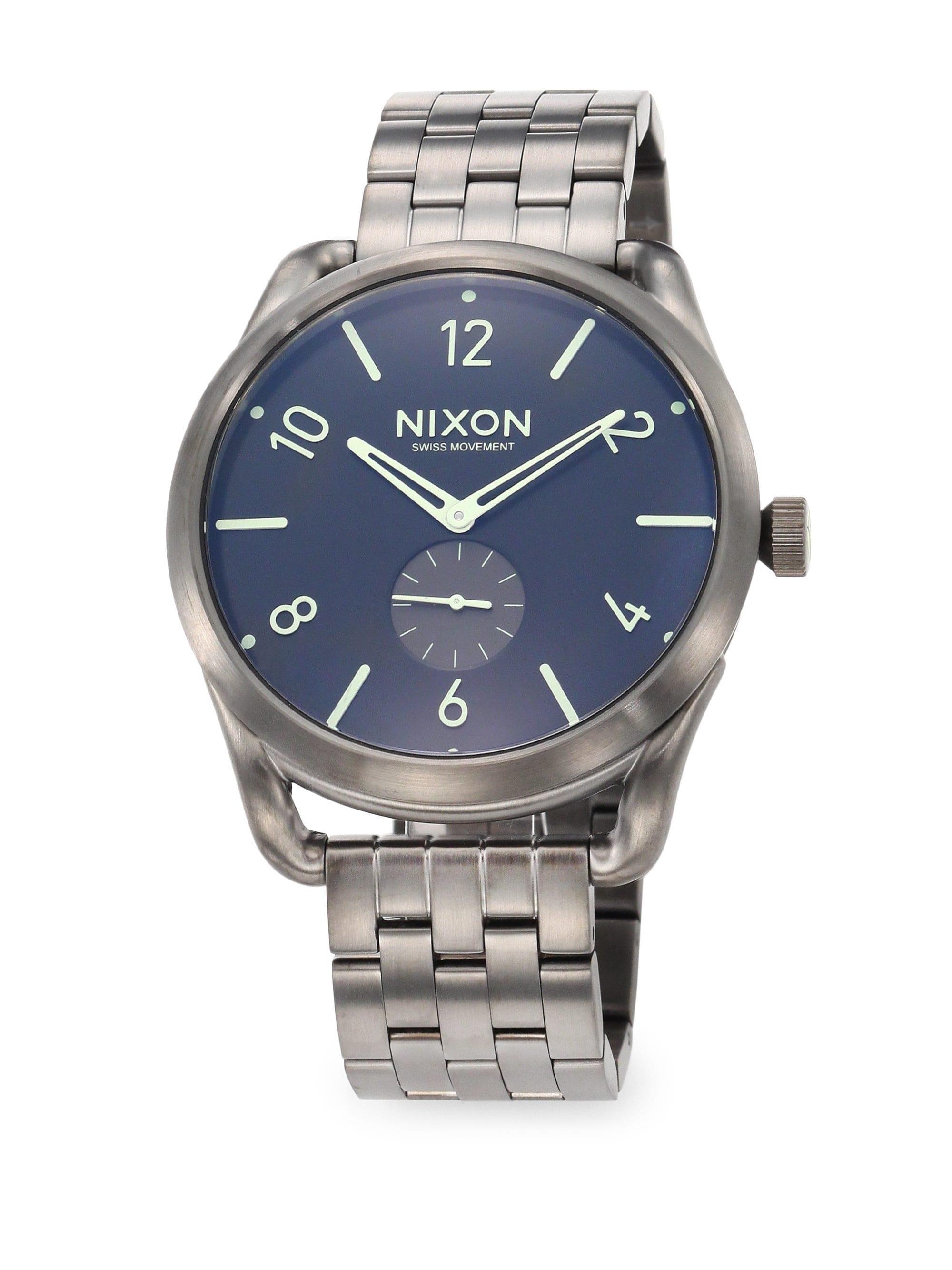 33980d07a1b Nixon Men s C45 Stainless Steel Chronograph Bracelet Watch ...