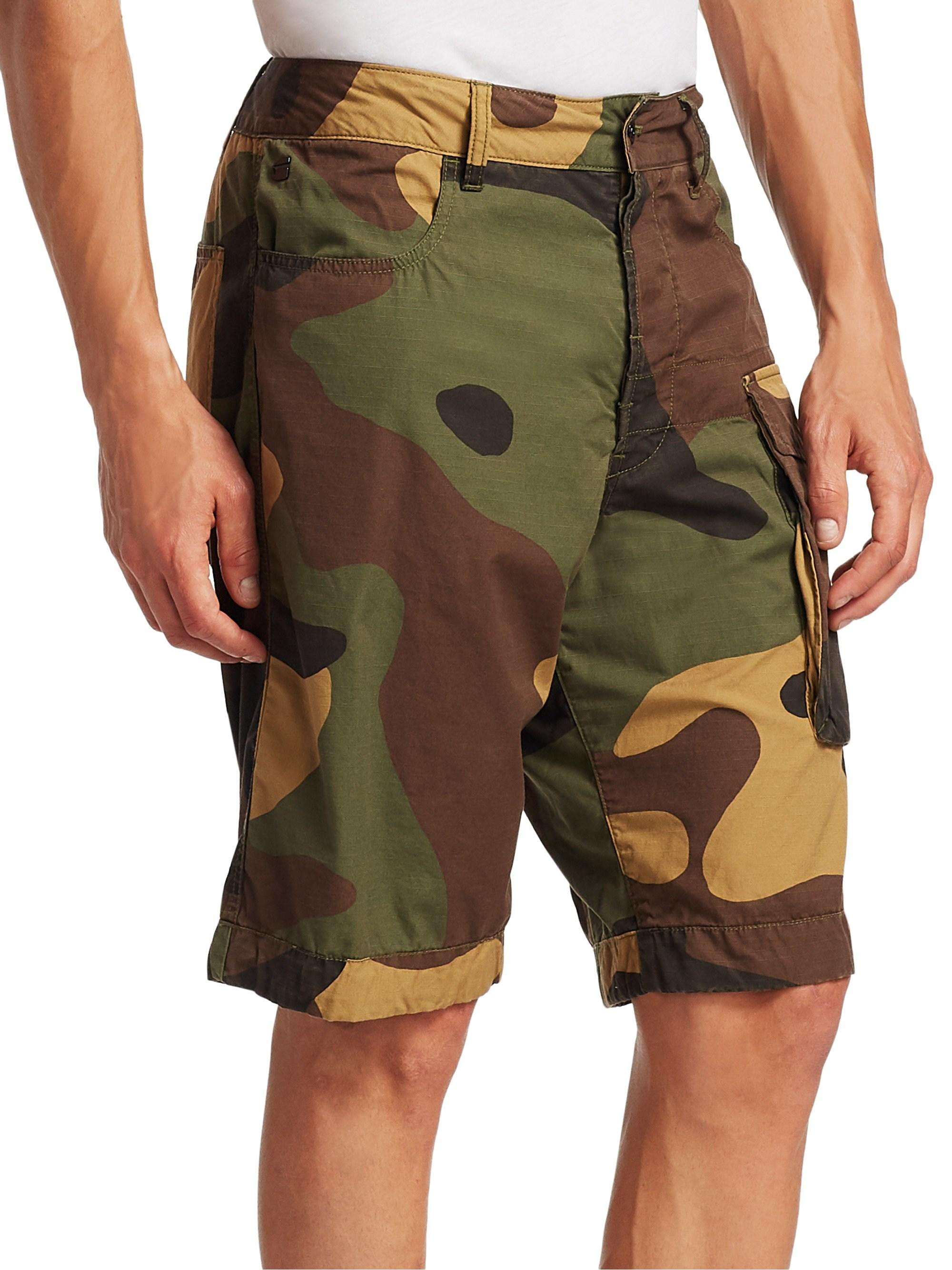 2b962b1d33 Lyst - G-Star RAW Cotton Camo Shorts in Green for Men
