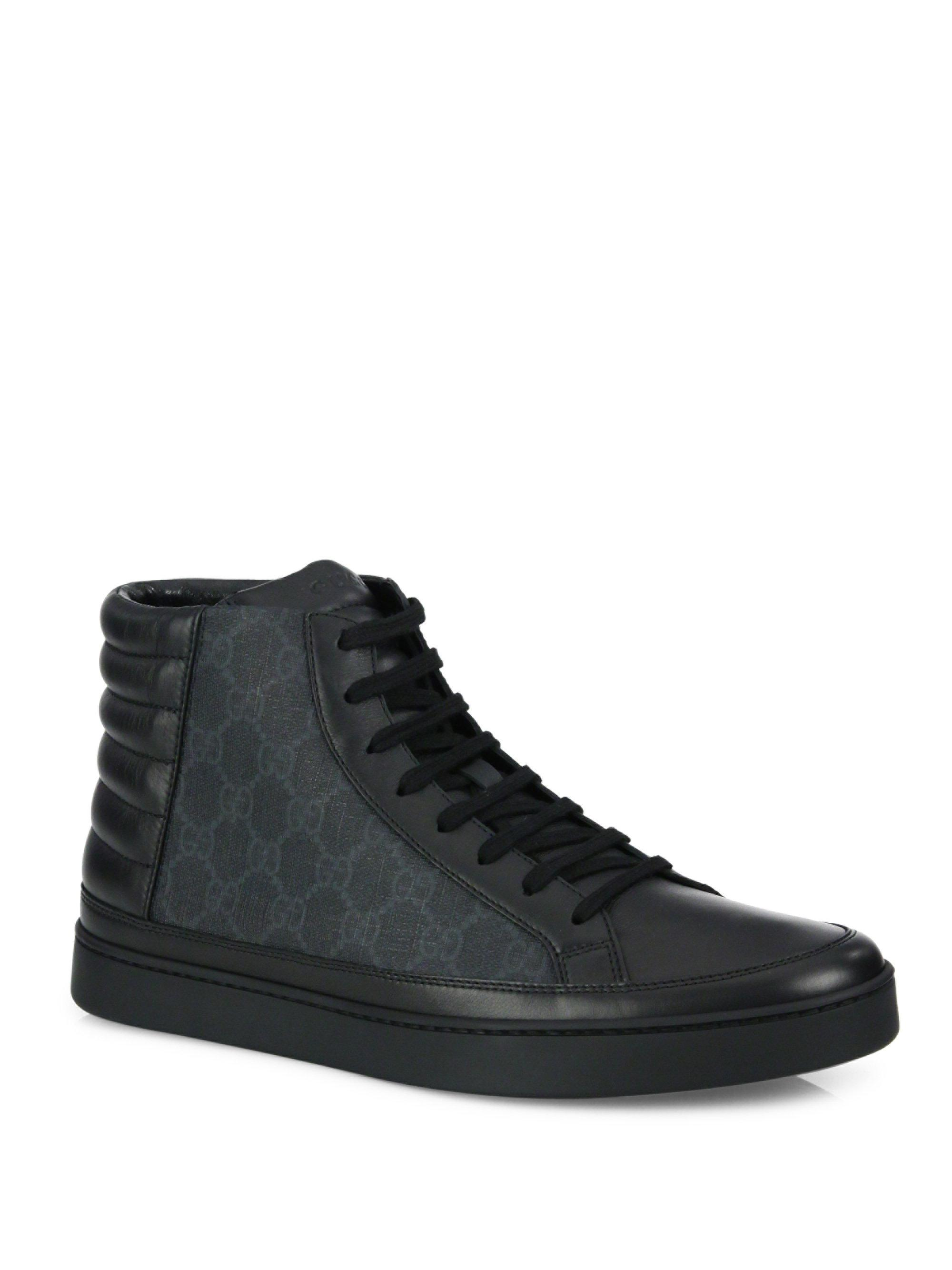 diaXnfa3nDpmMthqUhU5 Leather & Canvas High-Top Sneakers t5IHoc1Sy