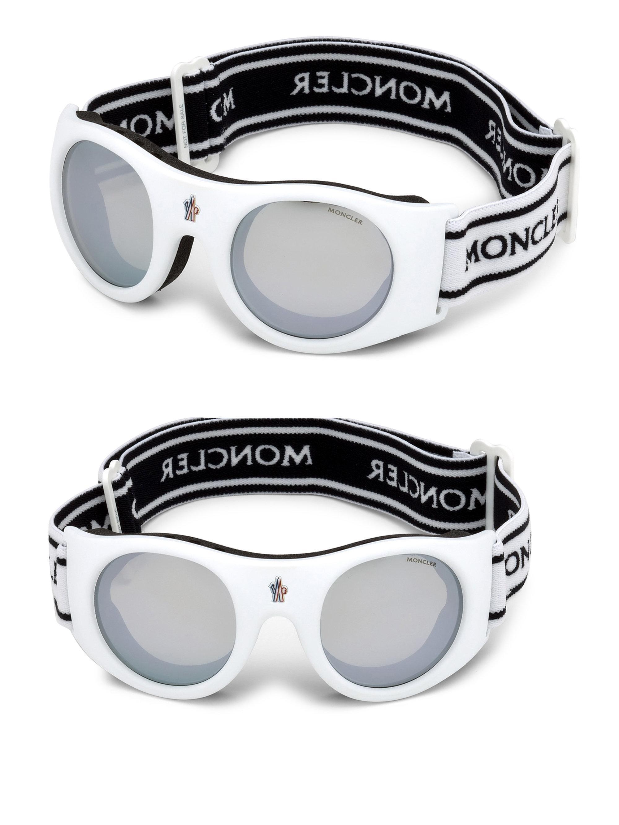 eba518f9f6b Lyst - Moncler Logo Band Goggles in White for Men