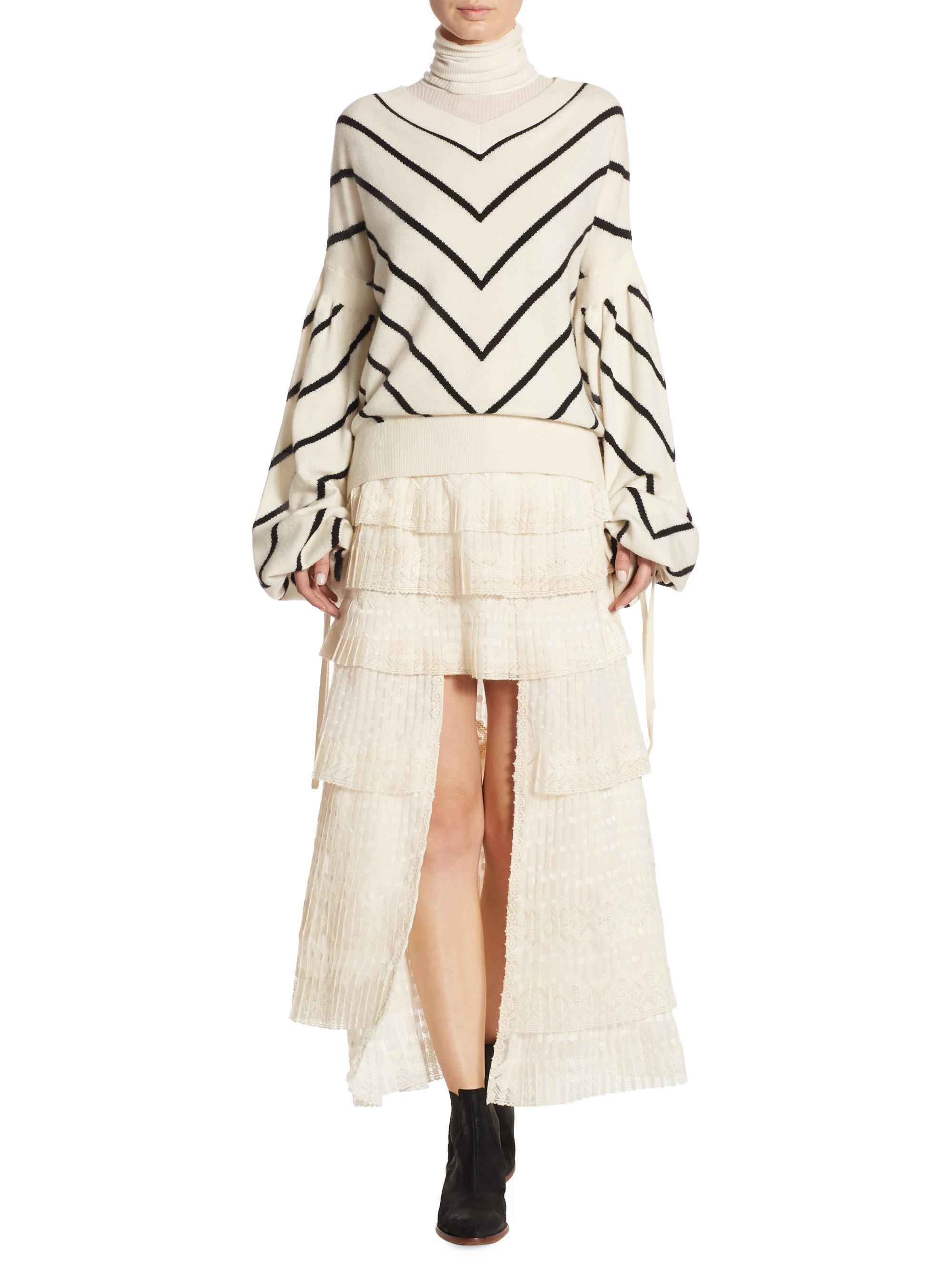 a5ad9d6e33d Zimmermann Louche Striped Sweater in Natural - Lyst