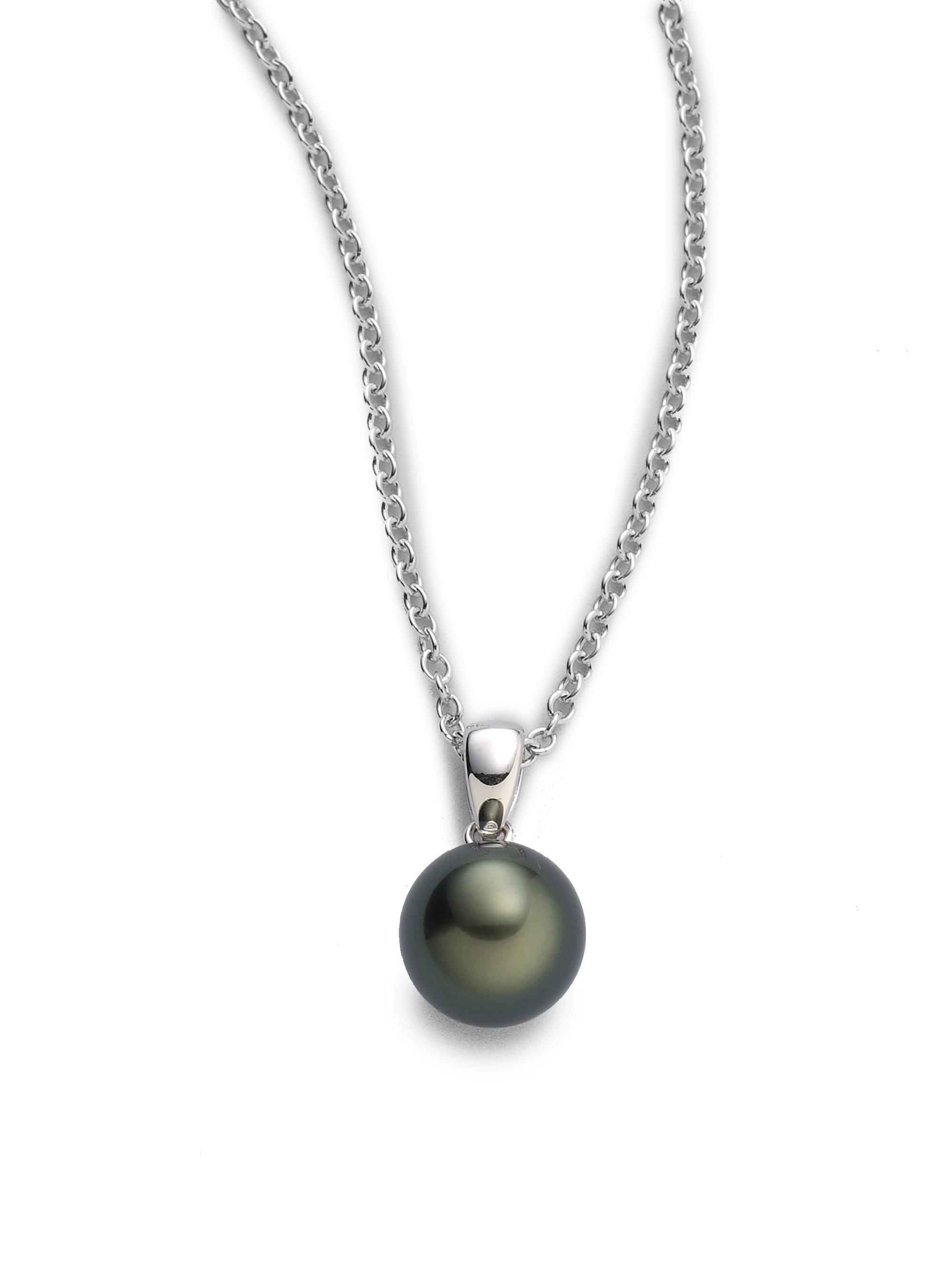pearls mikimoto diamonds this baroques south necklace multi cultured black colored features breathtaking pearl with pendant pin new sea baroque and