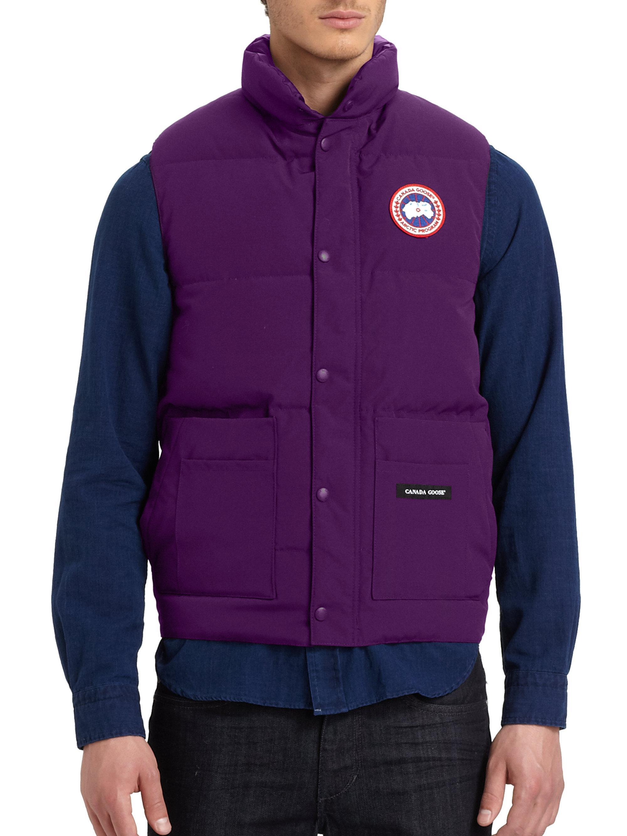 canada goose freestyle puffer vest in purple for men lyst rh lyst co uk