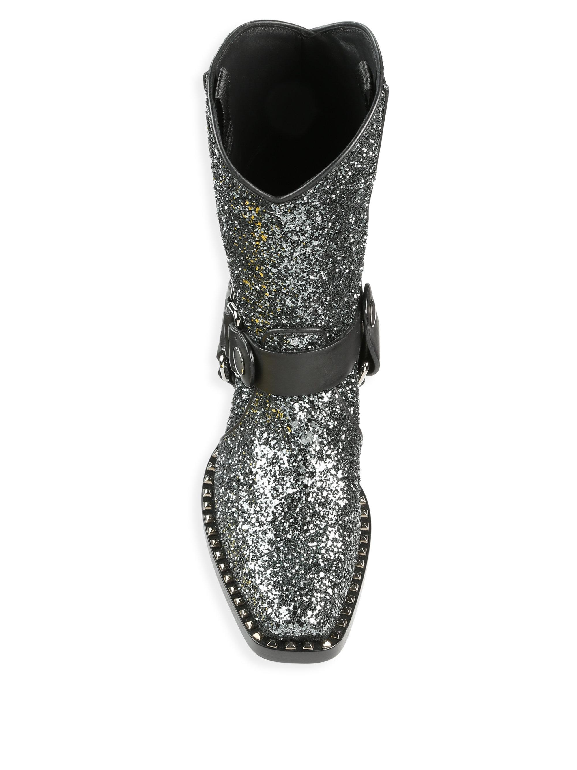 1d51be1558b9 Gallery. Previously sold at  Saks Fifth Avenue · Women s Cowboy Boots  Women s Miu Miu Glitter ...