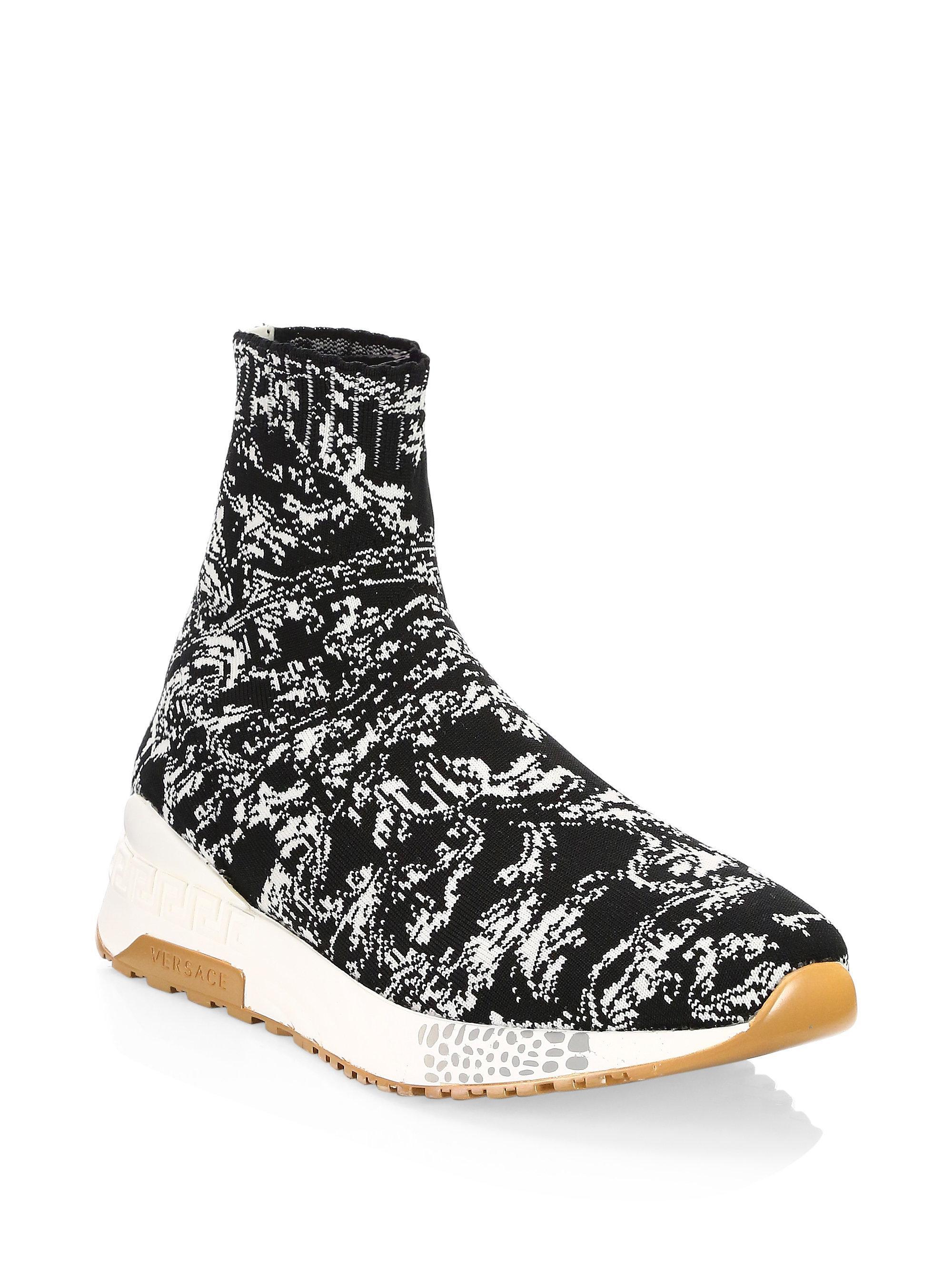 VERSACE Baroque sock sneakers wOmgUK90