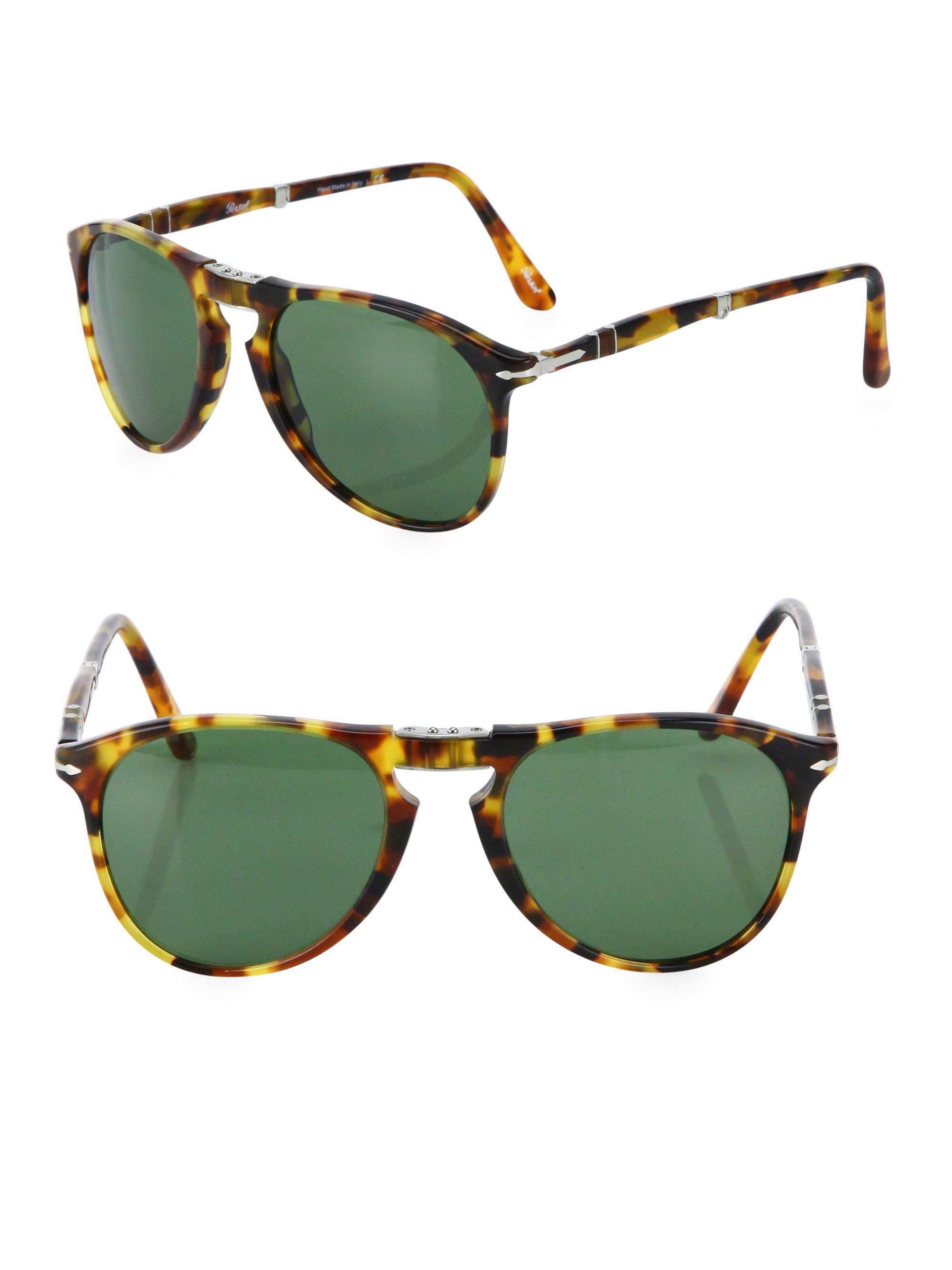 0dcc36413f4c8 Lyst - Persol 55mm Pilot Sunglasses in Green for Men