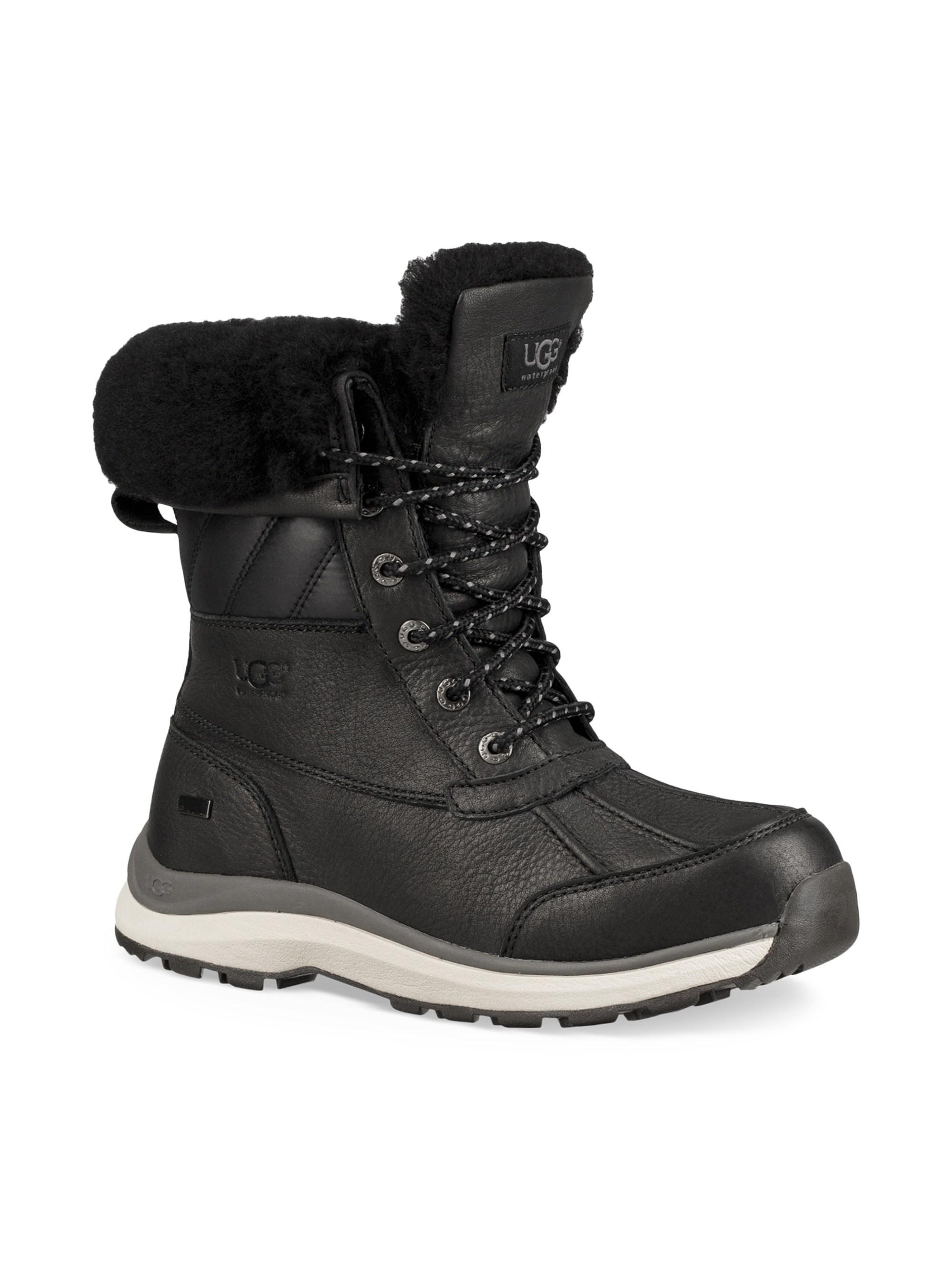 5594119b4d6 Lyst - UGG Women's Adirondack Iii Shearling Quilted Boots - Black ...