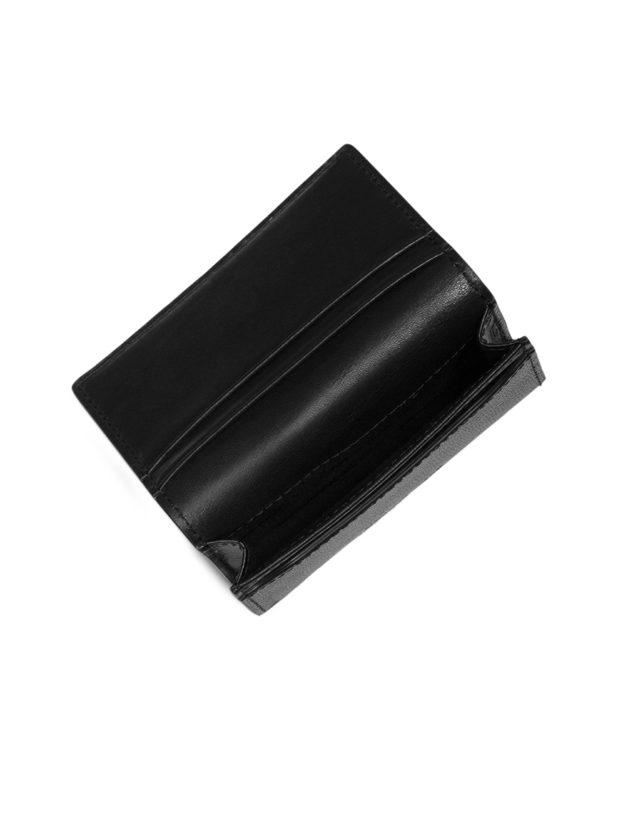 8a7b95c89bca Lyst - Michael Kors Harrison Business Card Holder in Black for Men