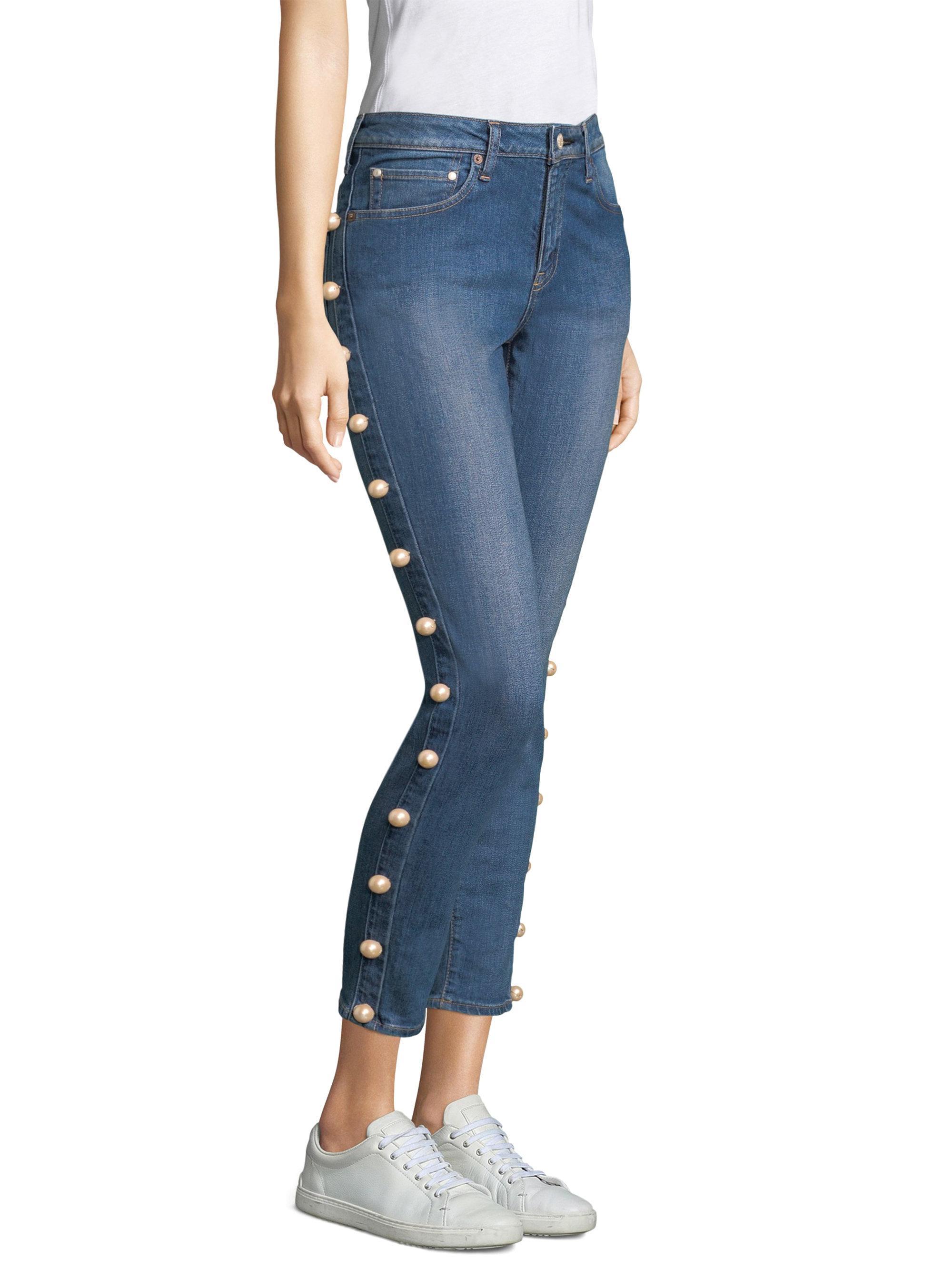 side pearl jeans - Green Tu Es Mon TRÉSOR dLd2vpN1