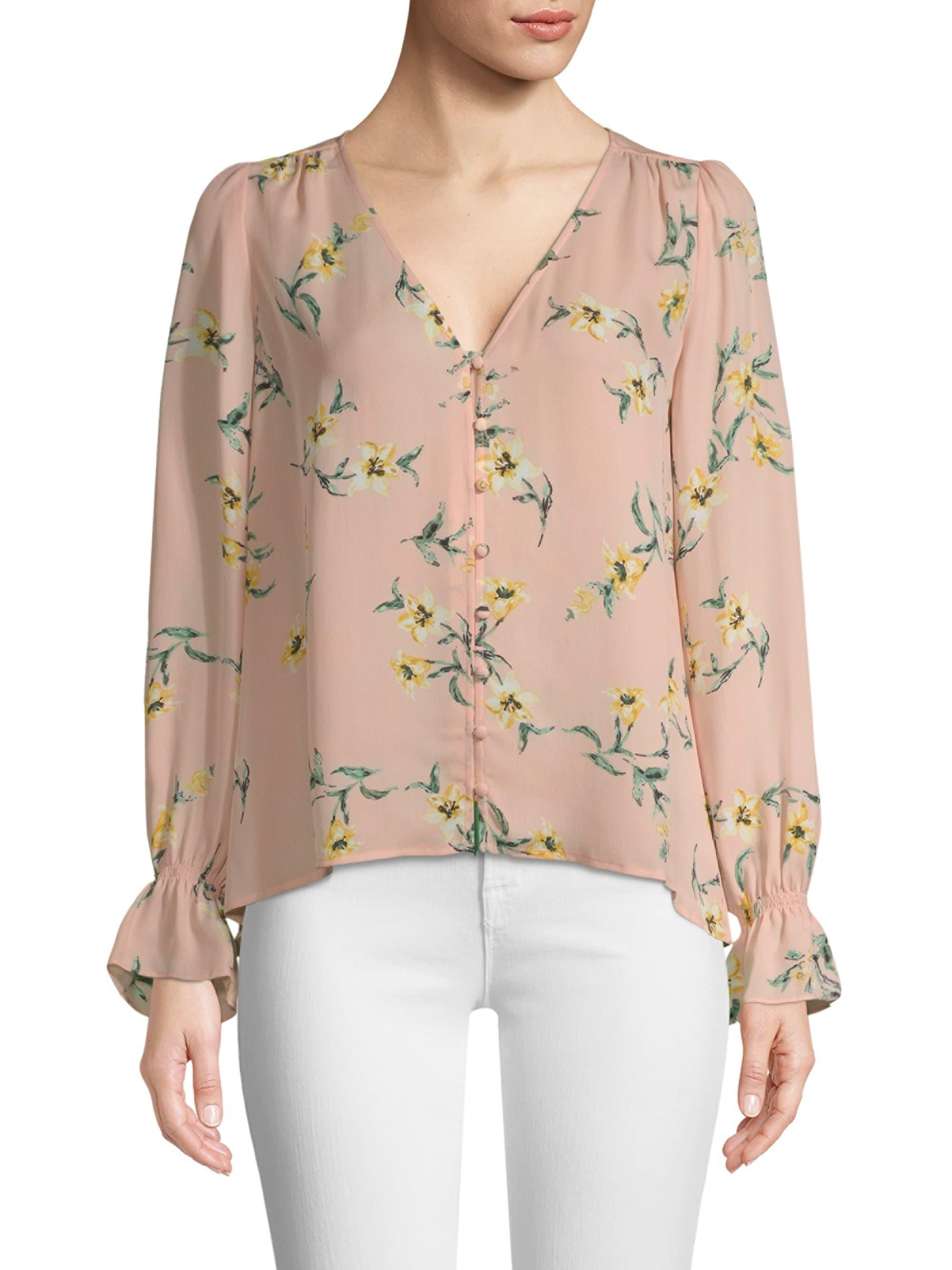 05b3fbcfbc7e Joie Bolona Silk Floral Blouse in Natural - Lyst