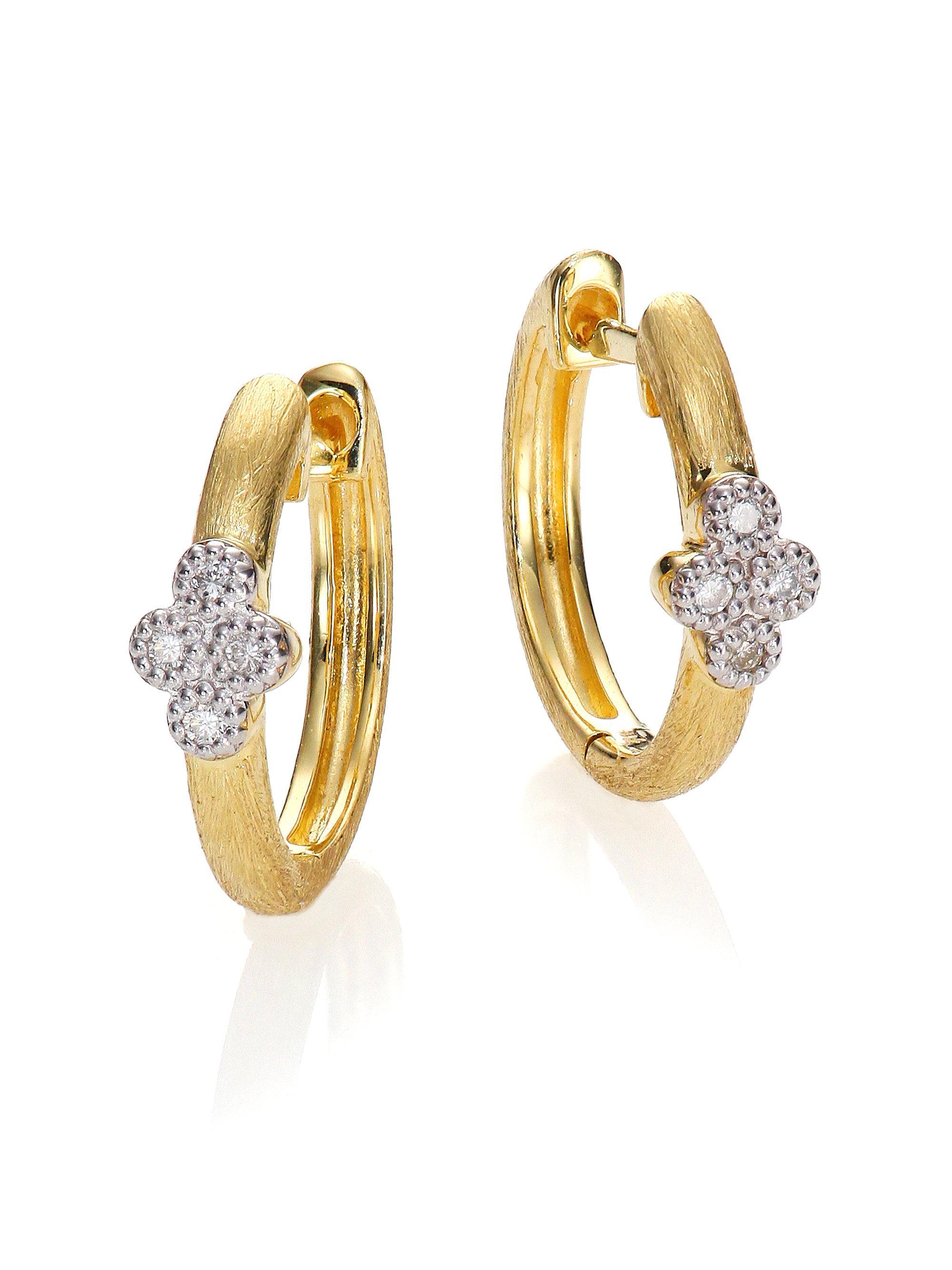 Jude Frances Provence Medium Pavé Diamond Hoop Earrings 2FoiawSM