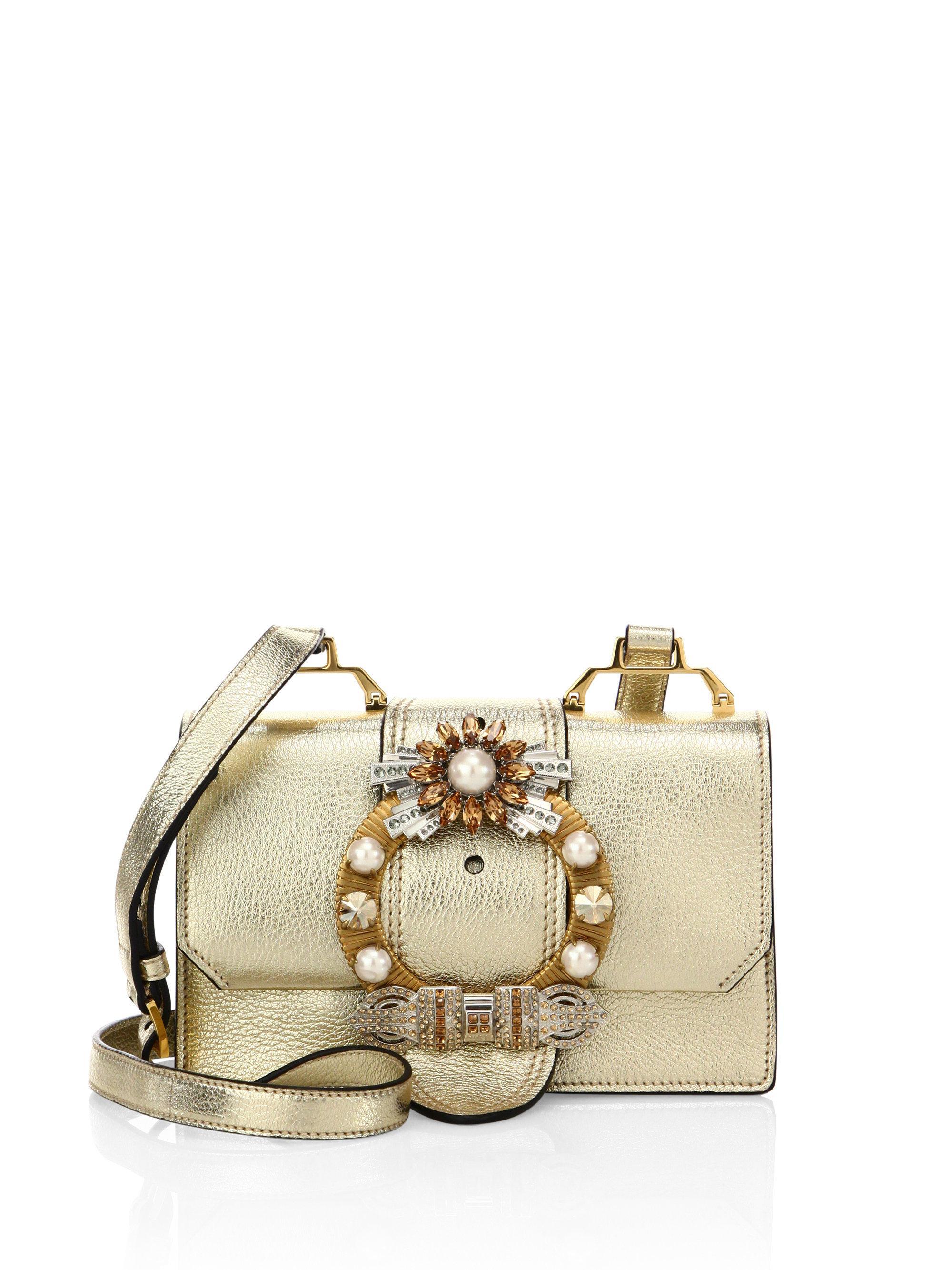 embellished metallic shoulder bag Miu Miu oqiIl6il8r