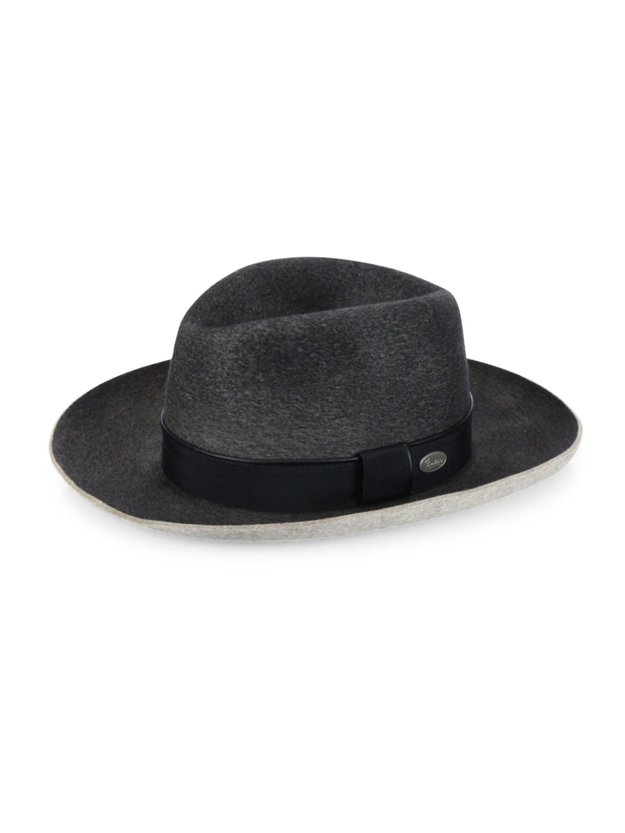 22d36efb7e7 Lyst - Barbisio Fedora Hat in Gray for Men