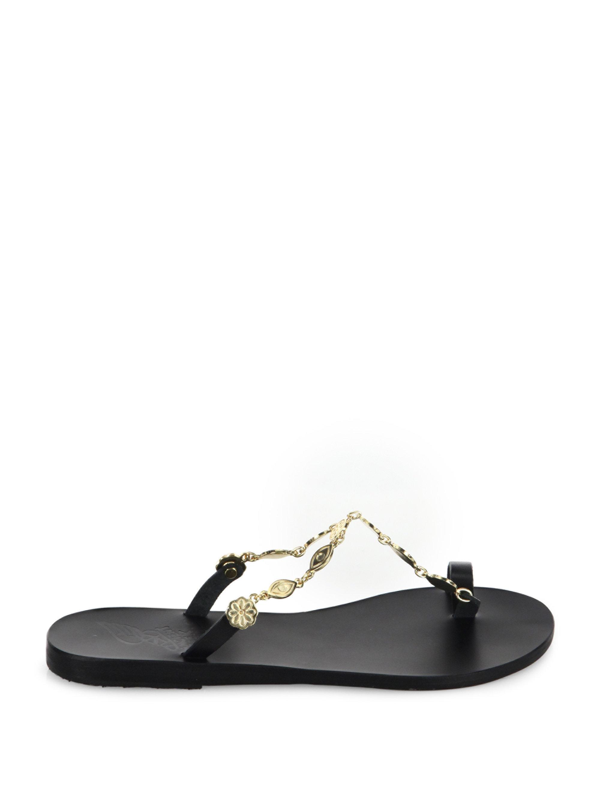 Ancient Greek Sandals - Black Dora Vachetta Leather Sandals - Lyst. View  fullscreen