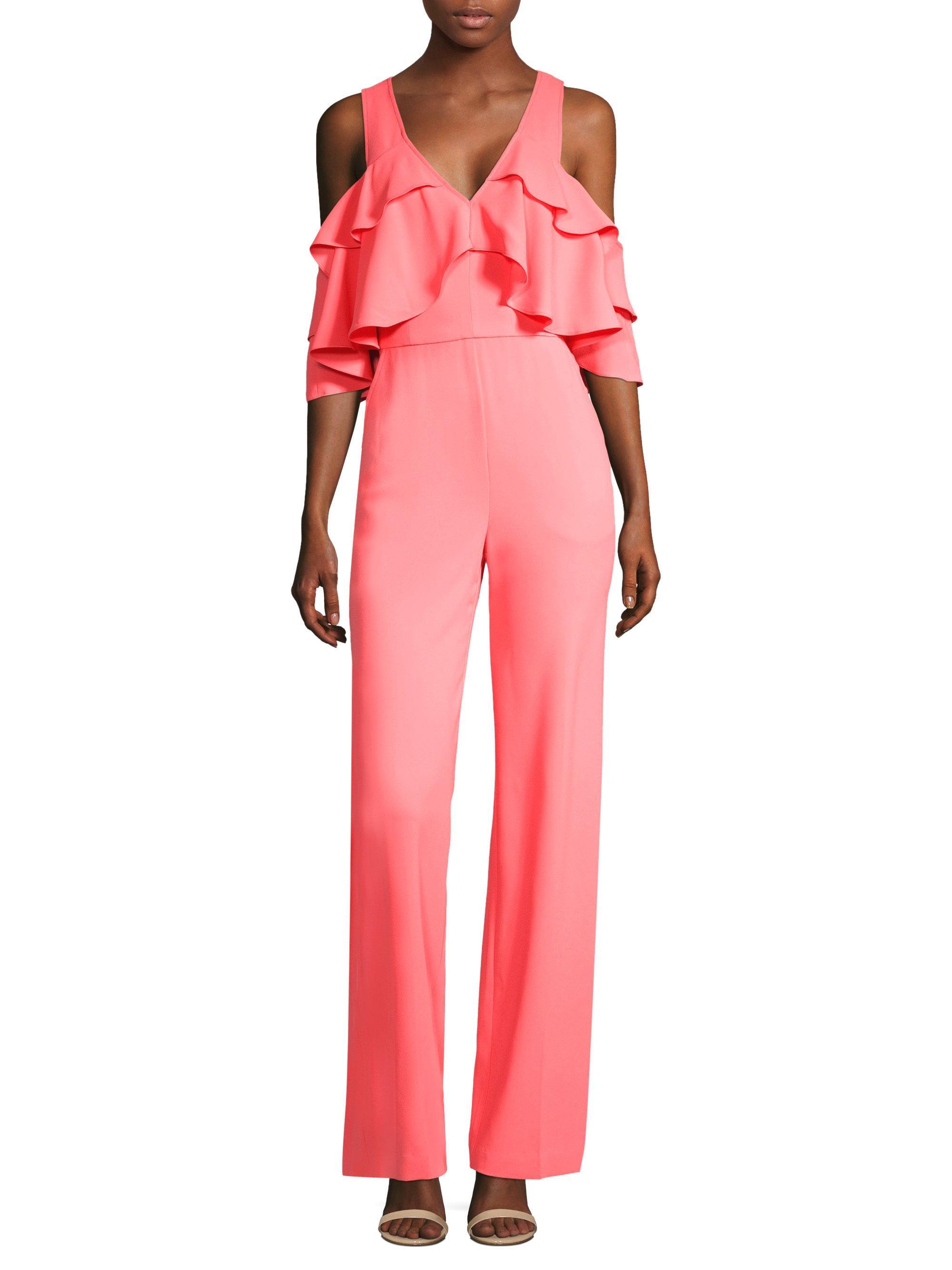Pink Ruffle Jumpsuit