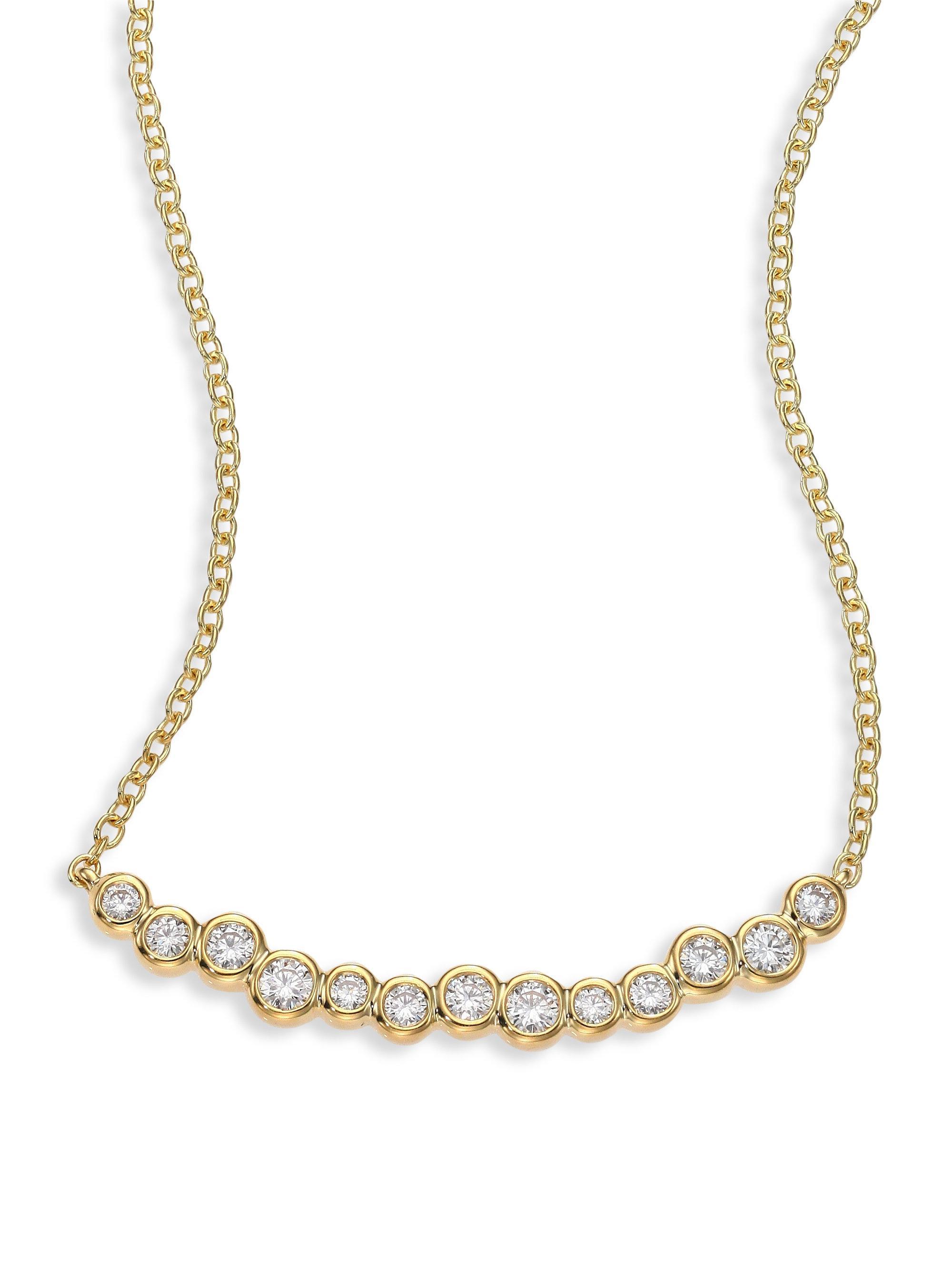 Ippolita 18k Glamazon Stardust Smile Bar Necklace with Diamonds my5EIuGoXg