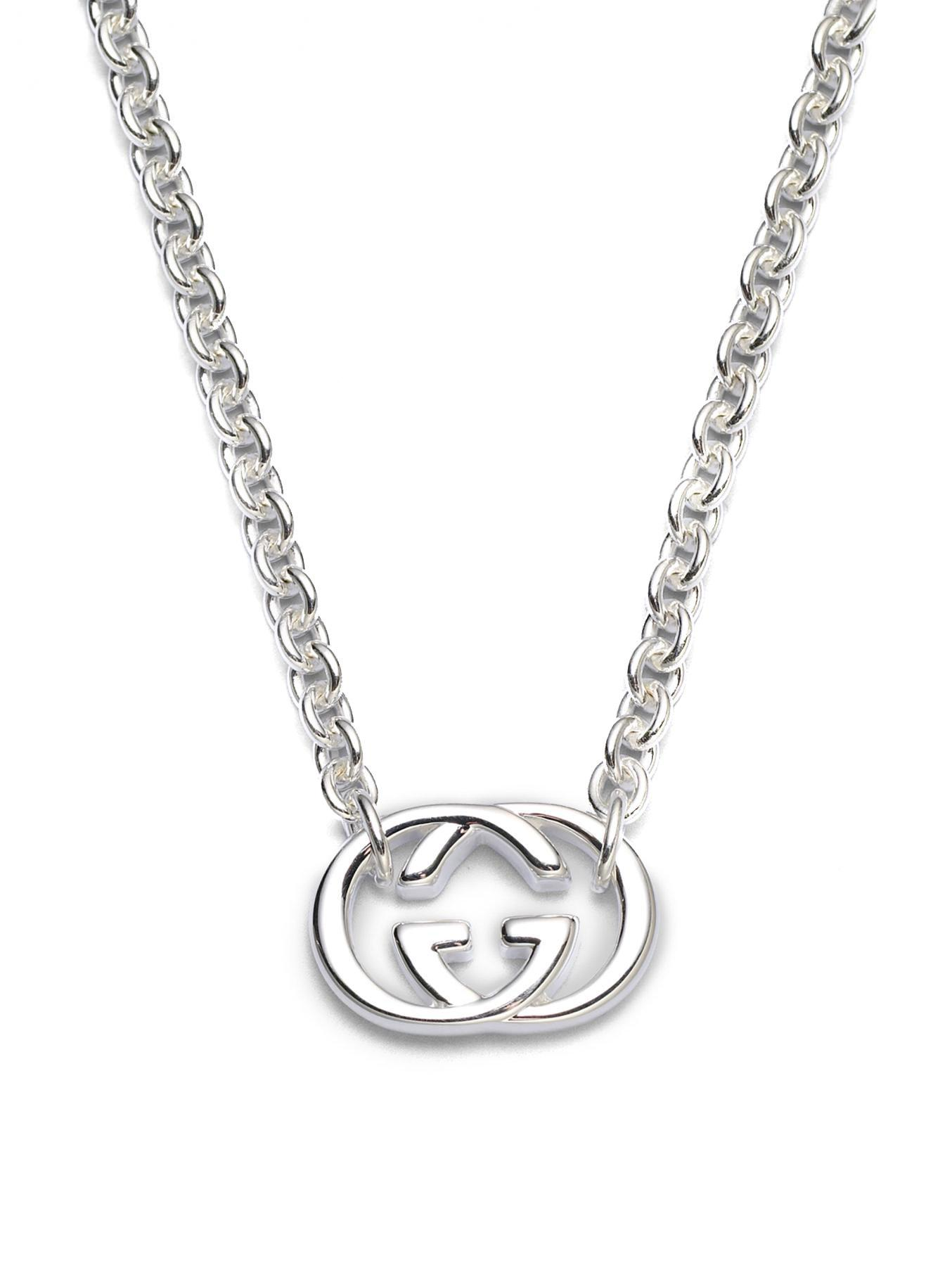 Gucci crystal Double G necklace - Metallic 9OOiCCd3