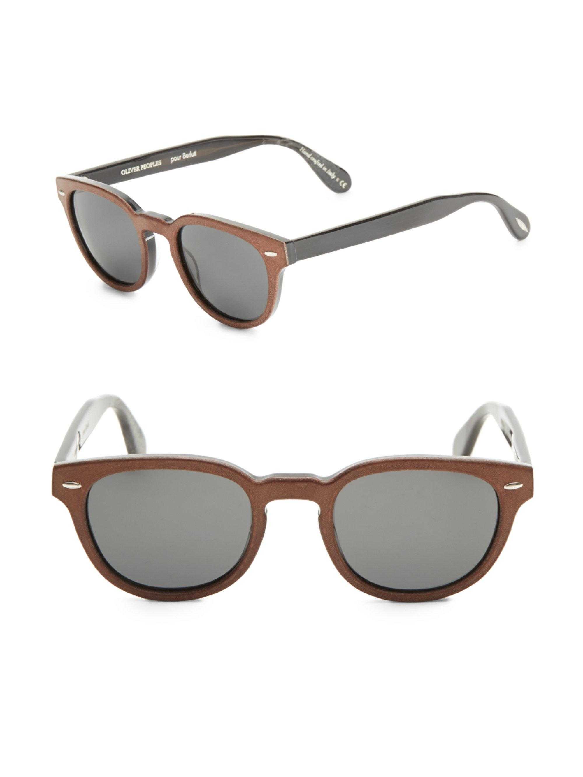 88e1d164866 Oliver Peoples Sheldrake 49mm Cat Eye Sunglasses in Brown for Men - Lyst