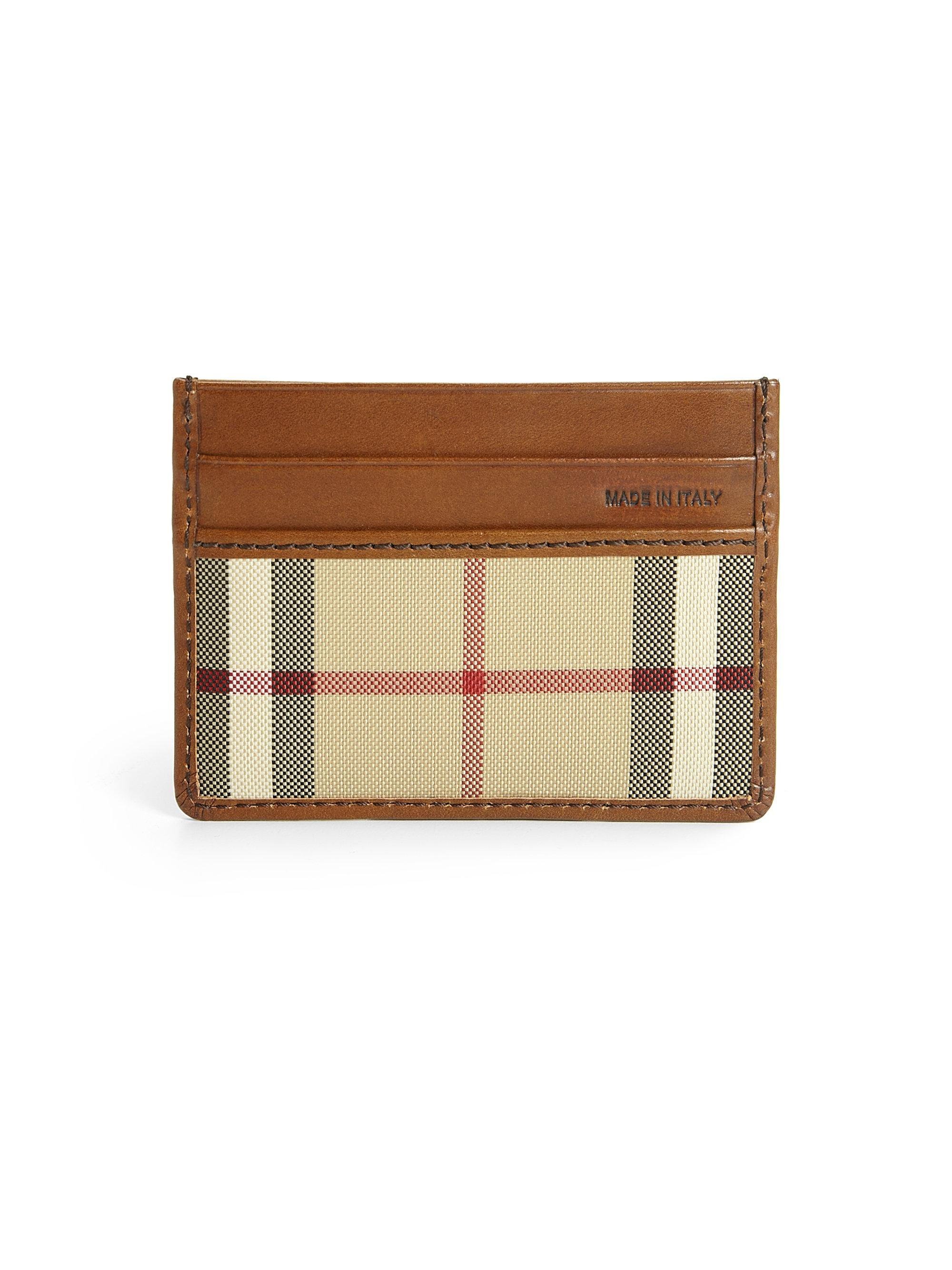 d91c71892c319 Lyst - Burberry Sandon Card Case in Brown for Men