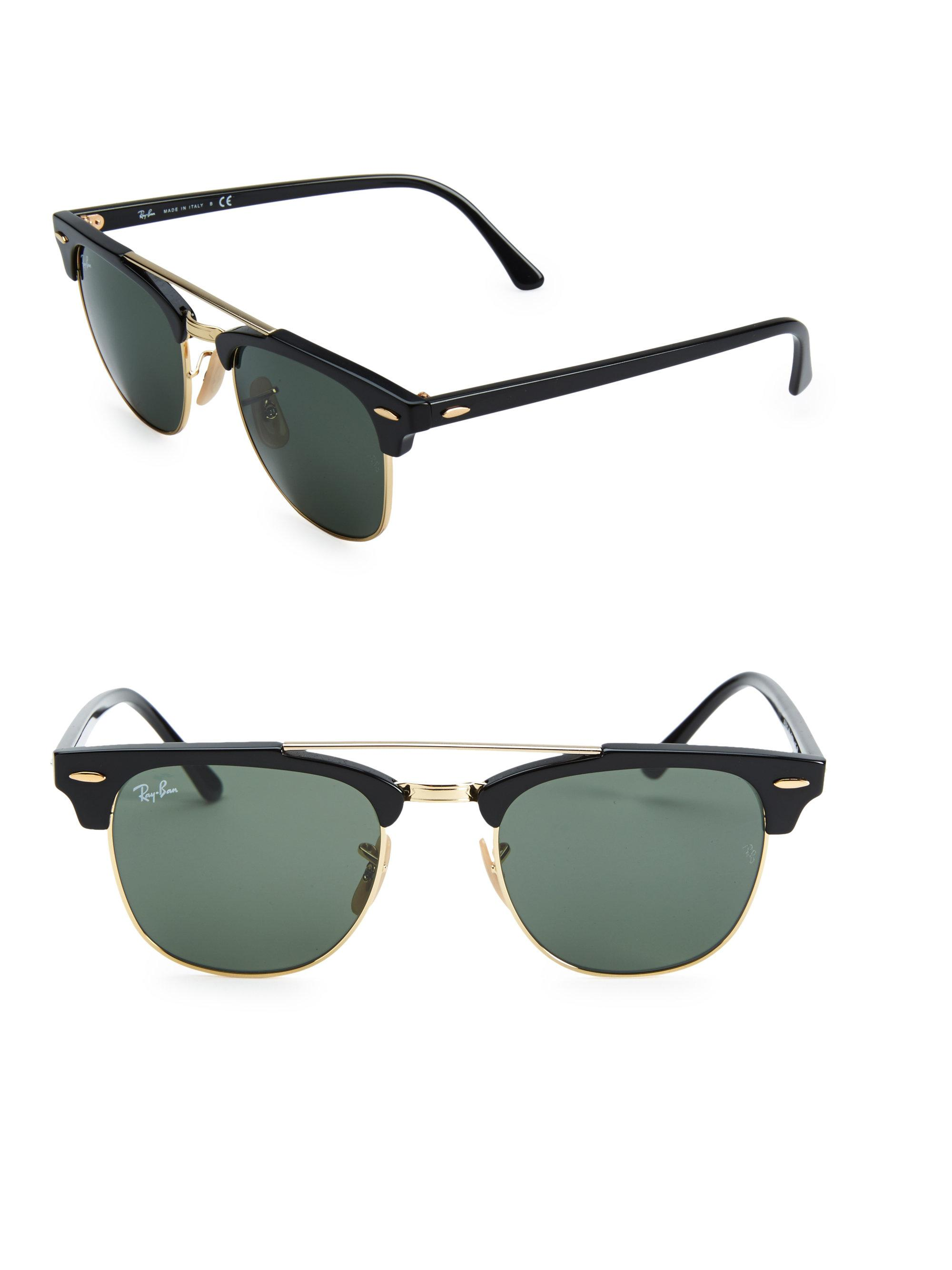 a9dace567b9 Gallery. Previously sold at  Saks Fifth Avenue · Men s Ray Ban Clubmaster  Men s Wayfarer Sunglasses ...