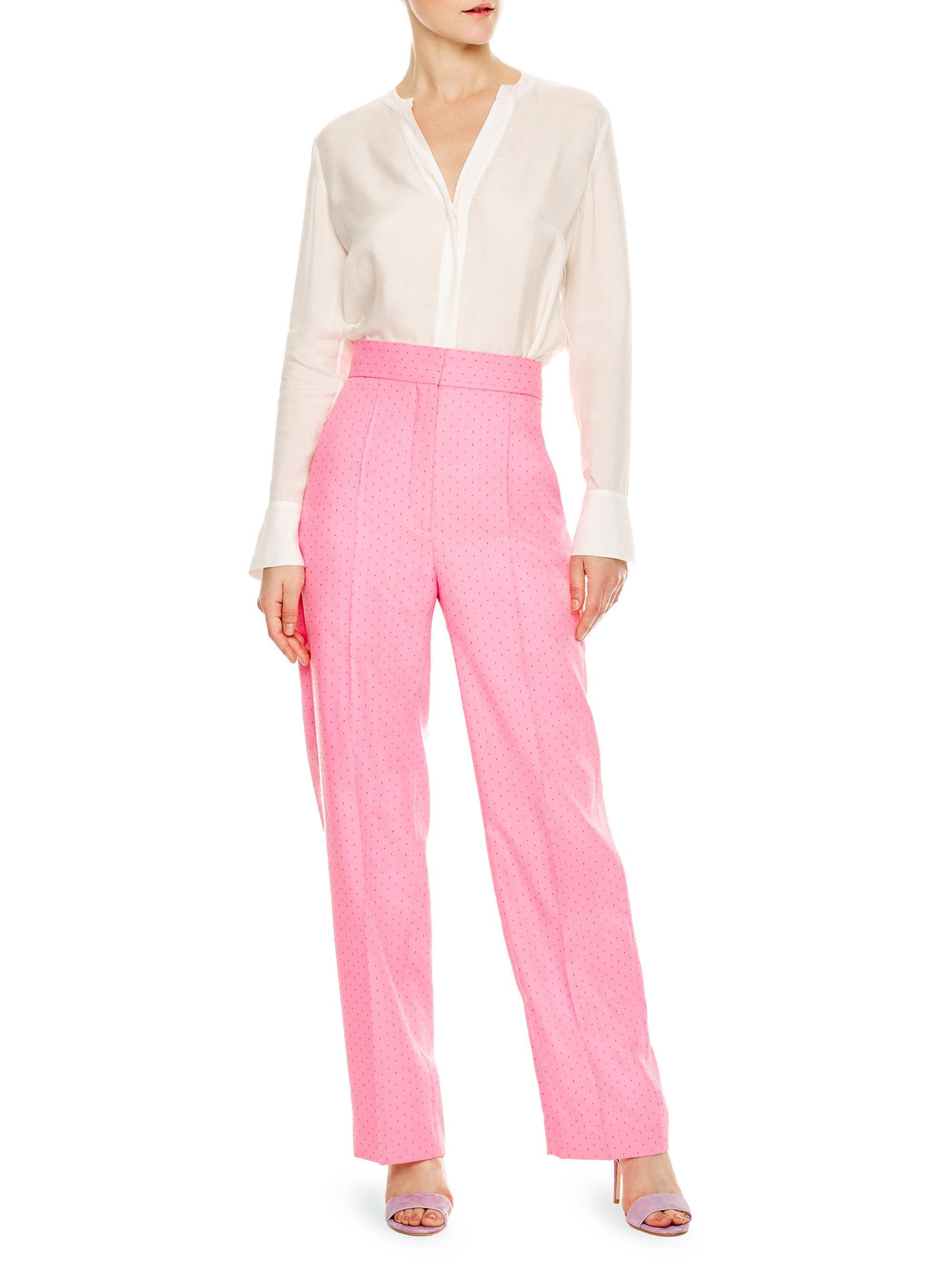 f700dfa6fda8 Sandro Hamako Tailored Pants in Pink - Lyst