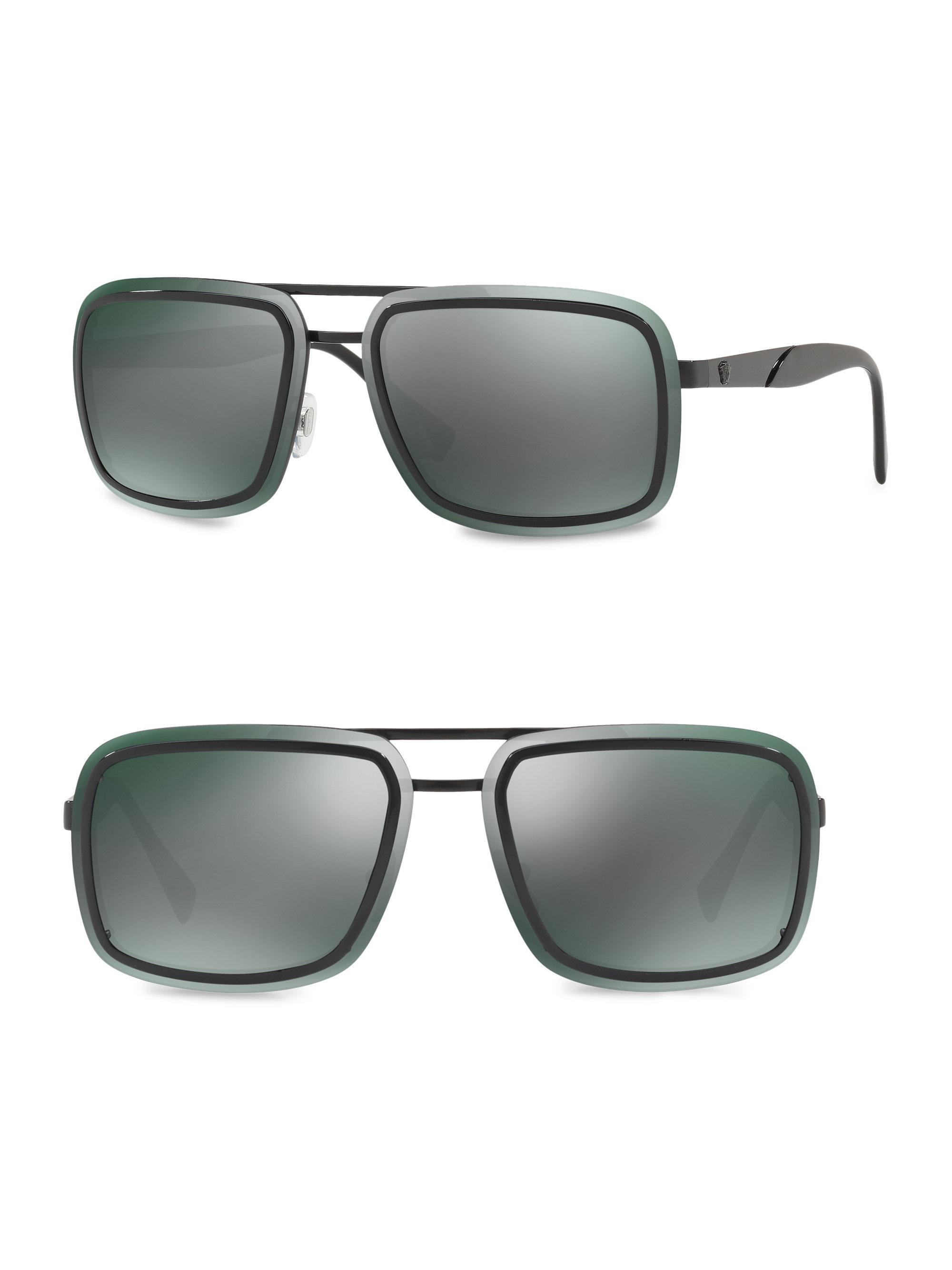 9d1a033ad70 Versace 63mm Square Sunglasses in Gray for Men - Lyst