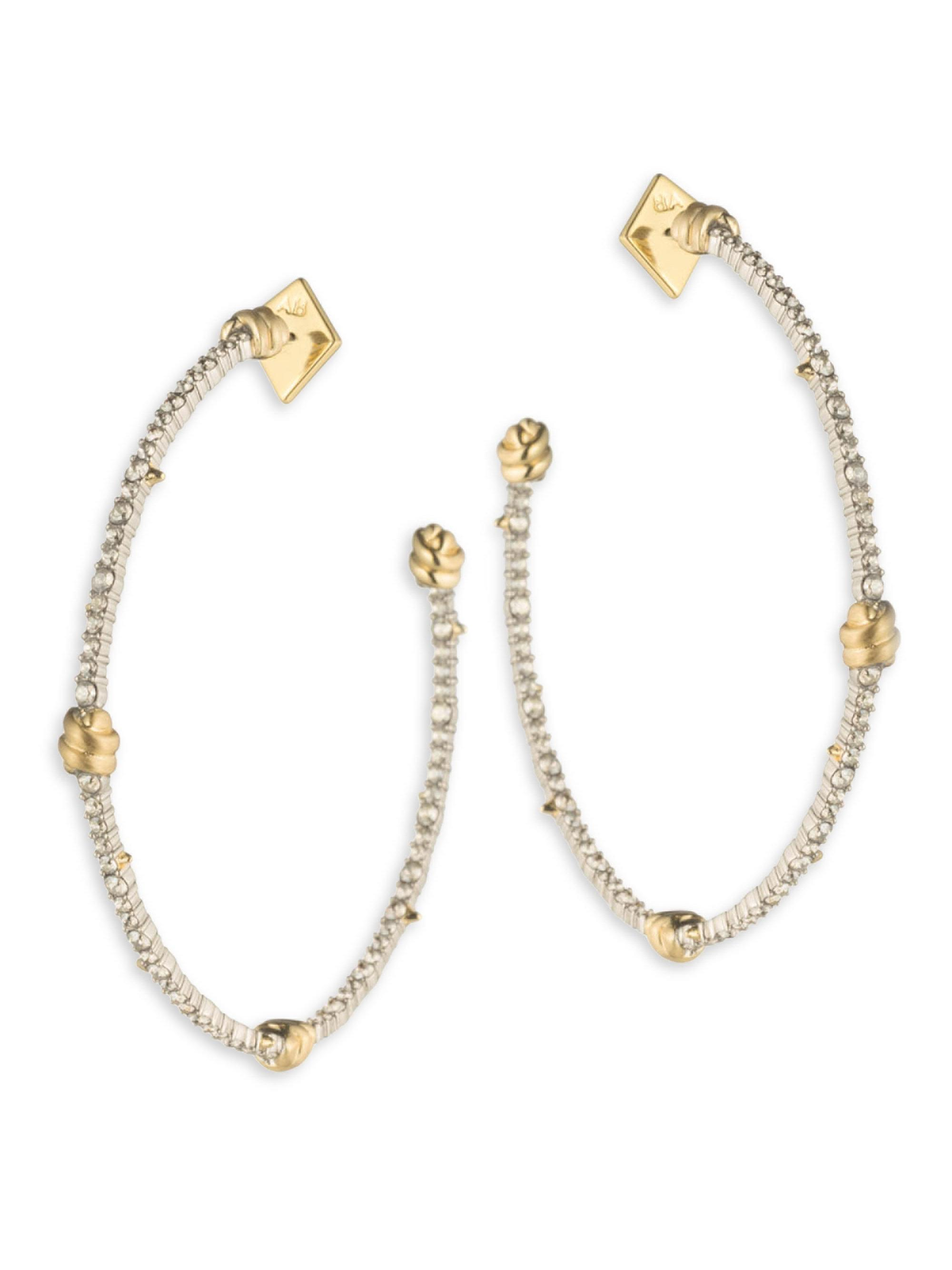 Alexis Bittar Crystal Pavé Knotted Hoop Earrings lThSuRWp