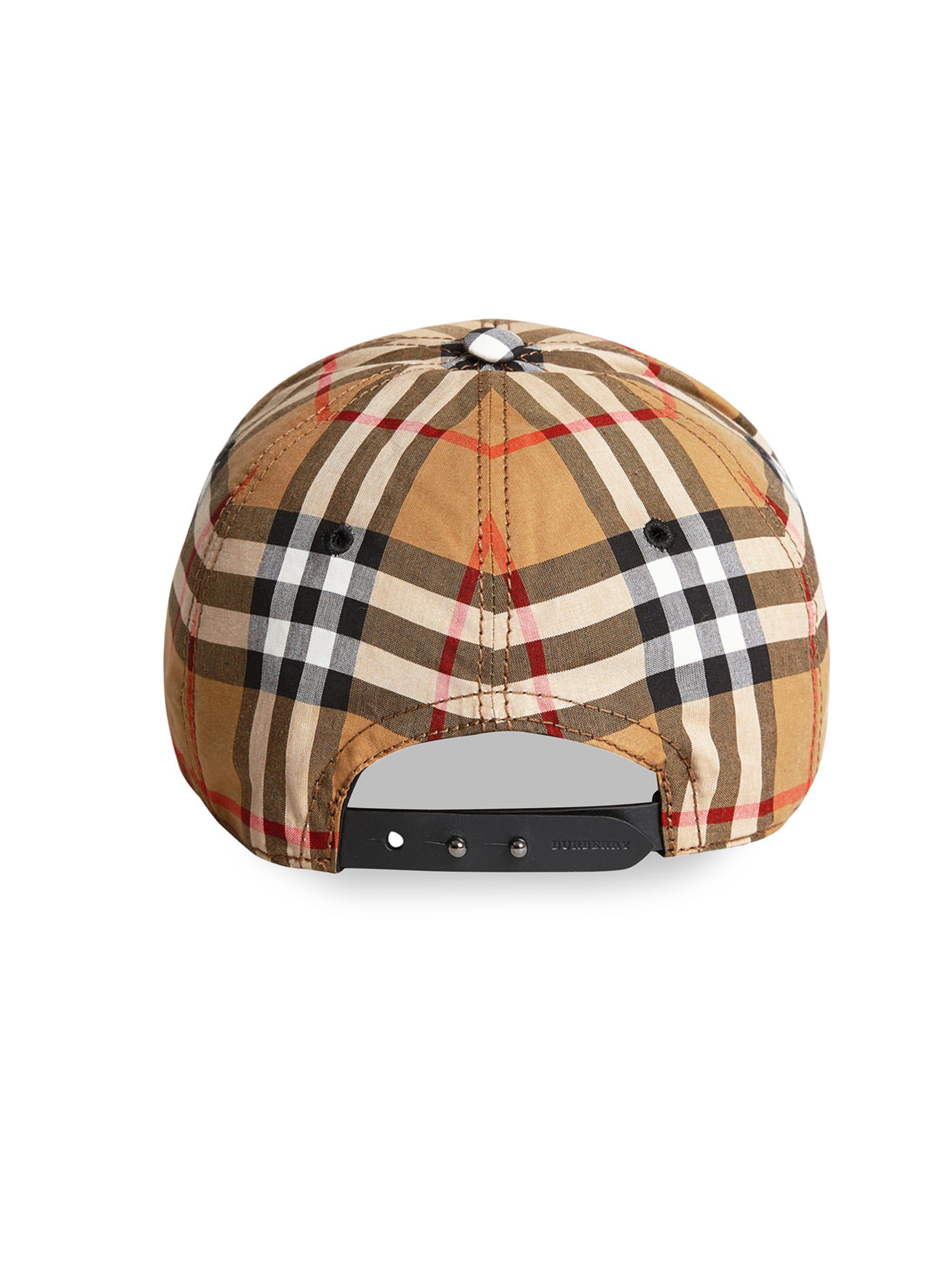 22c3f360d12 Burberry - Multicolor Vintage Check Cotton Baseball Cap for Men - Lyst.  View fullscreen
