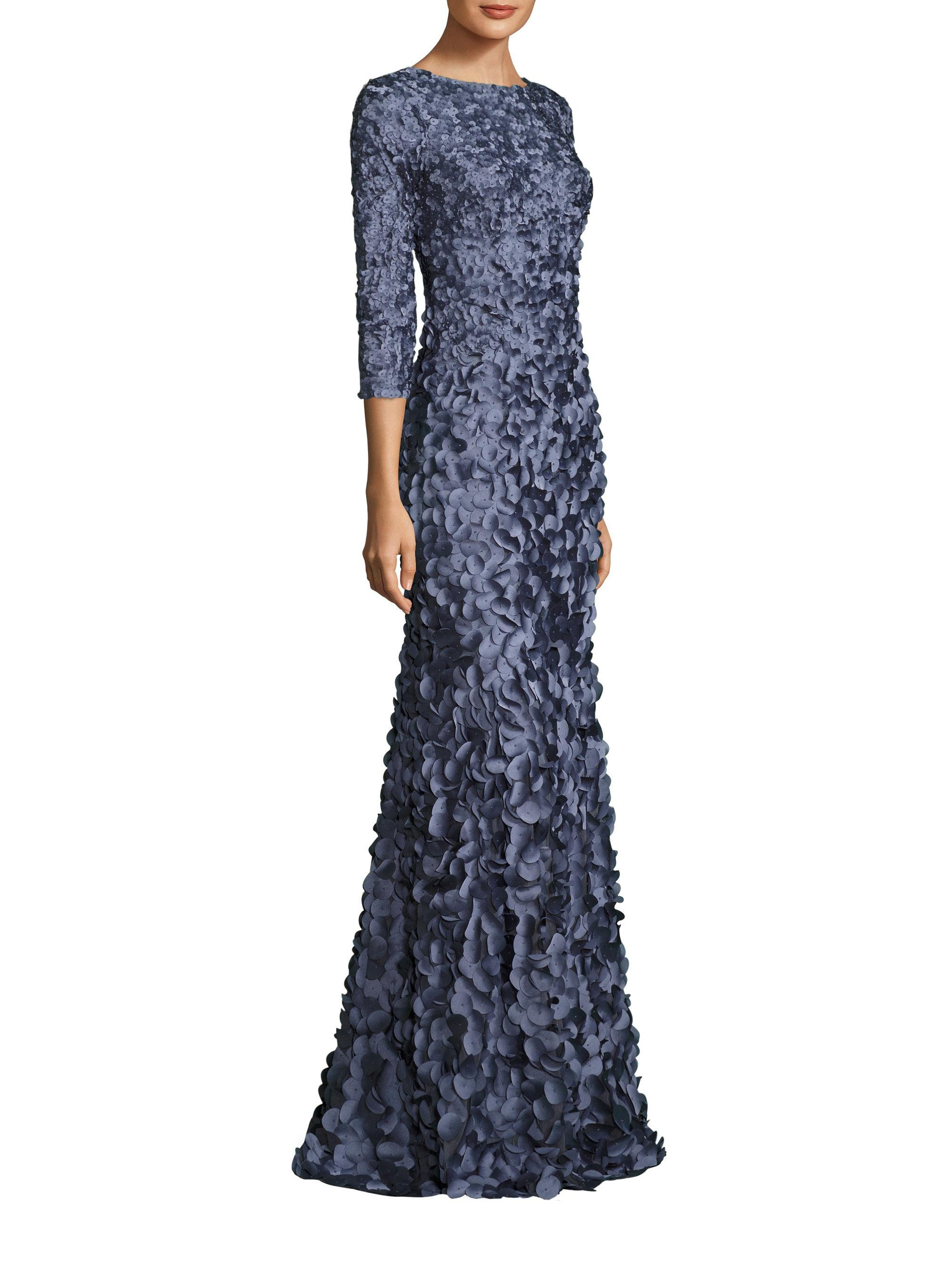 Lyst - Theia Petal Gown in Blue