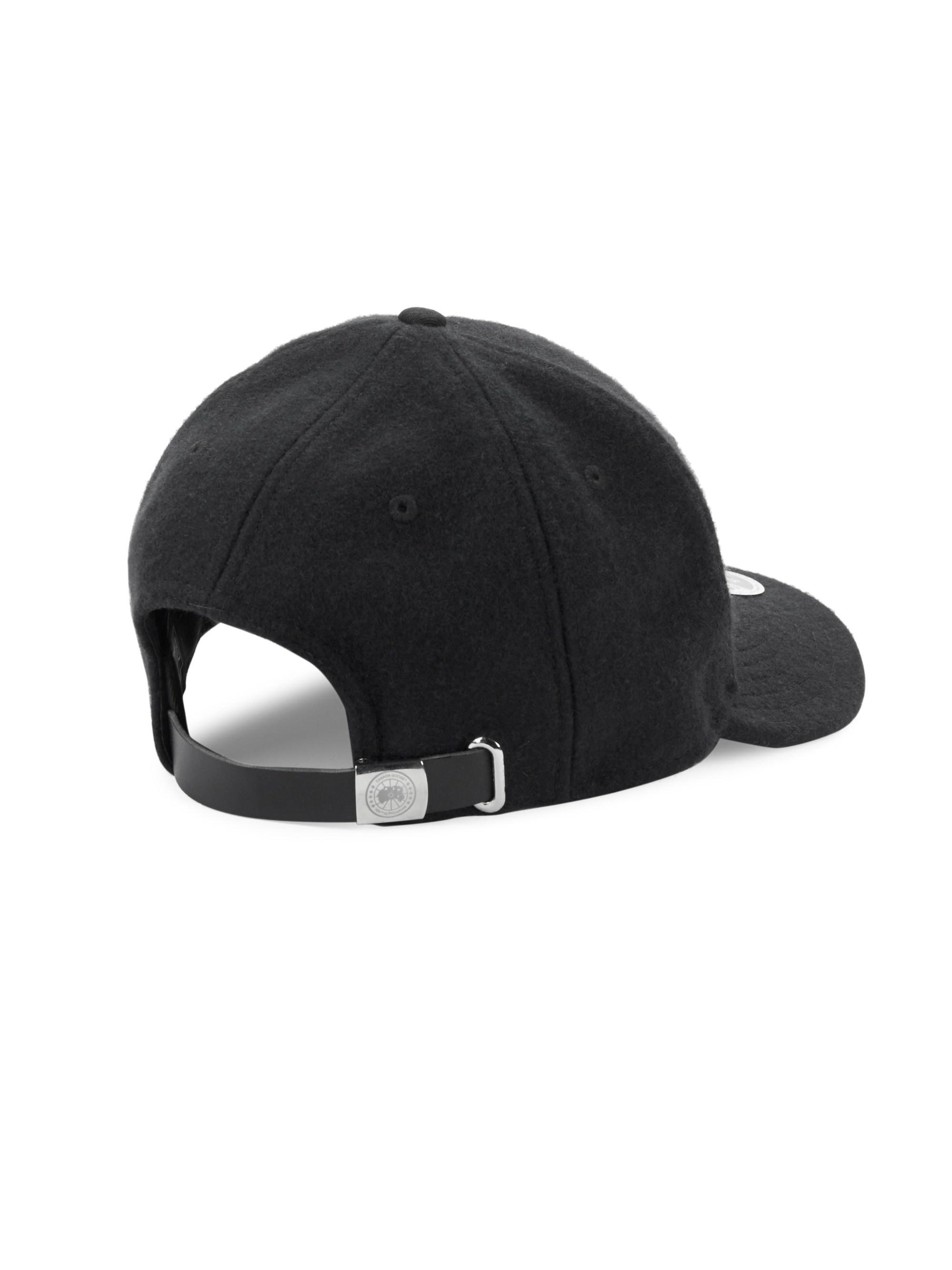 b01c6a29c4d Canada Goose Melton Wool Baseball Hat in Black for Men - Lyst