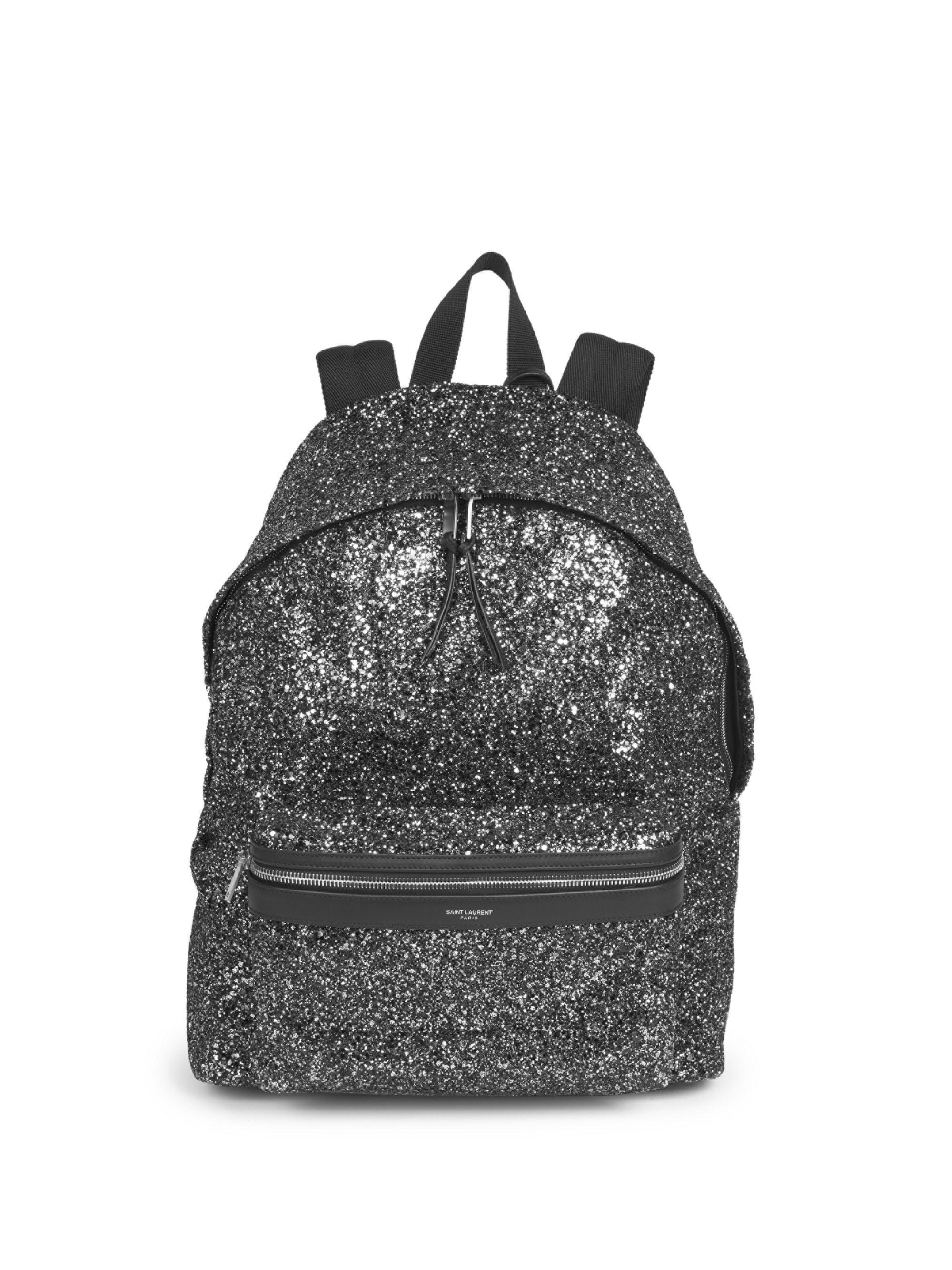 516d14003 Saint Laurent - Black Classic Zip Backpack for Men - Lyst. View fullscreen