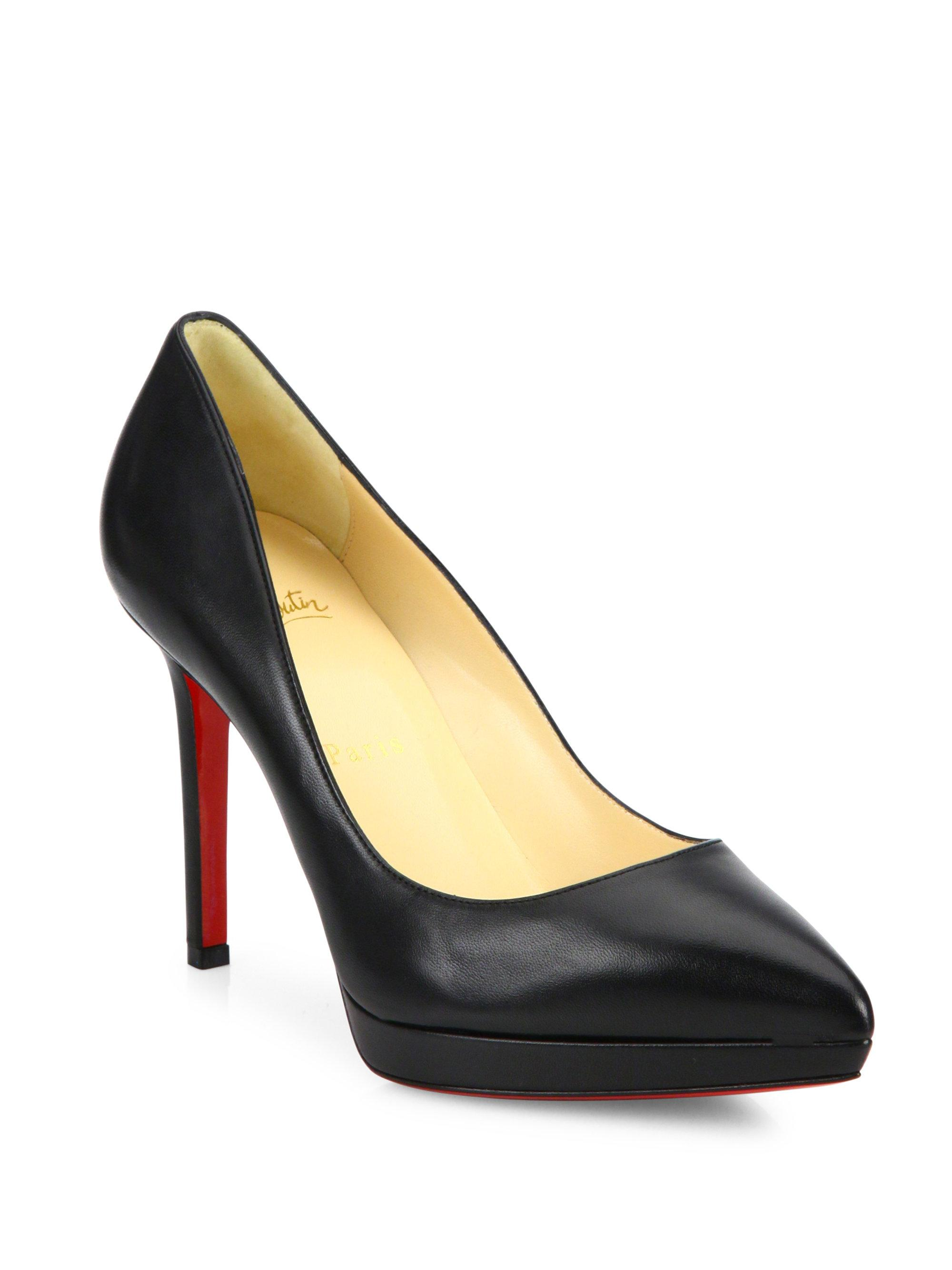 f736593214c7 Christian Louboutin. Women s Black Pigalle Plato 100 Leather Point Toe ...