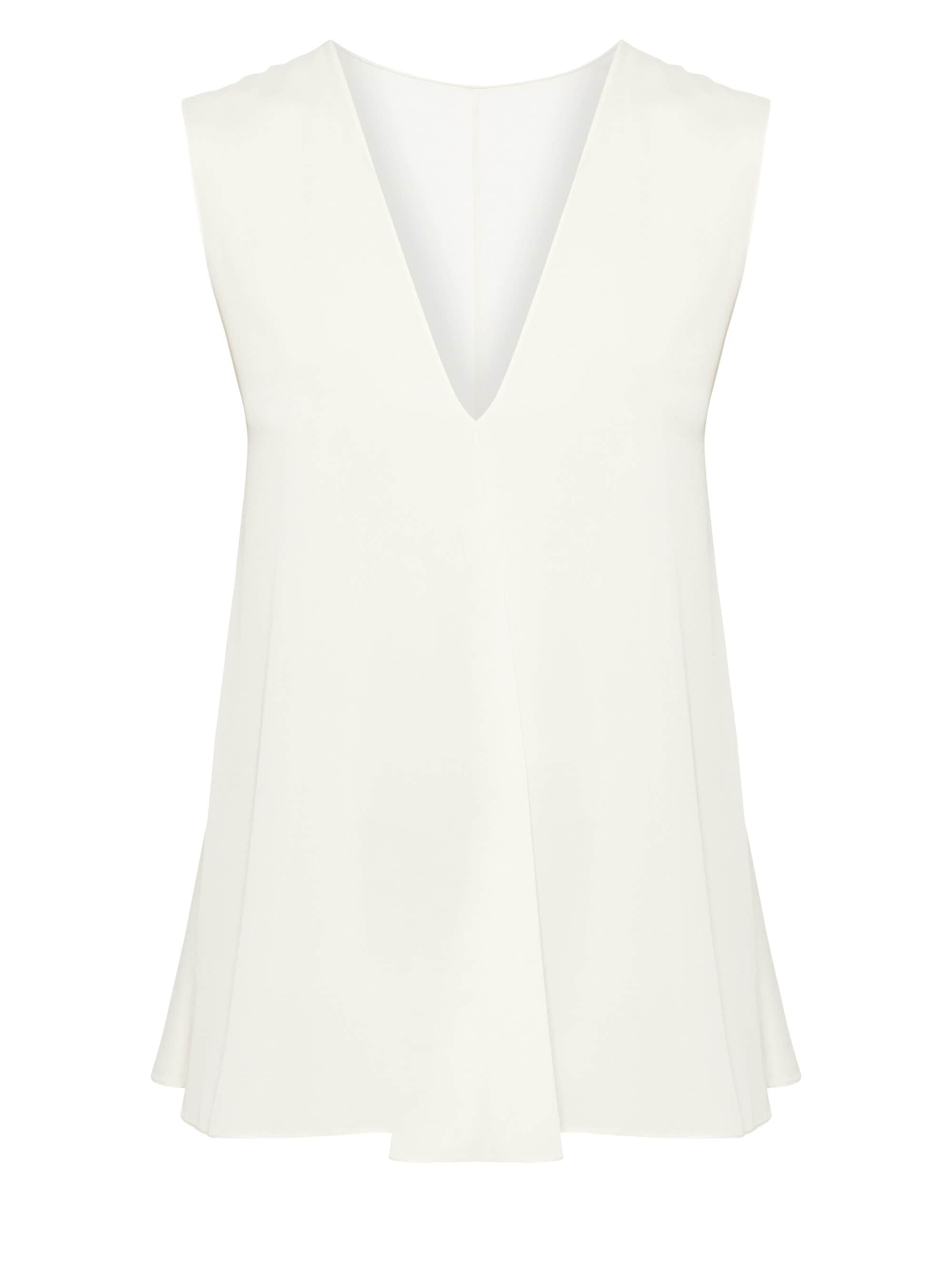 79be7f2e5293a Lyst - Theory V-neck A-line Top in White