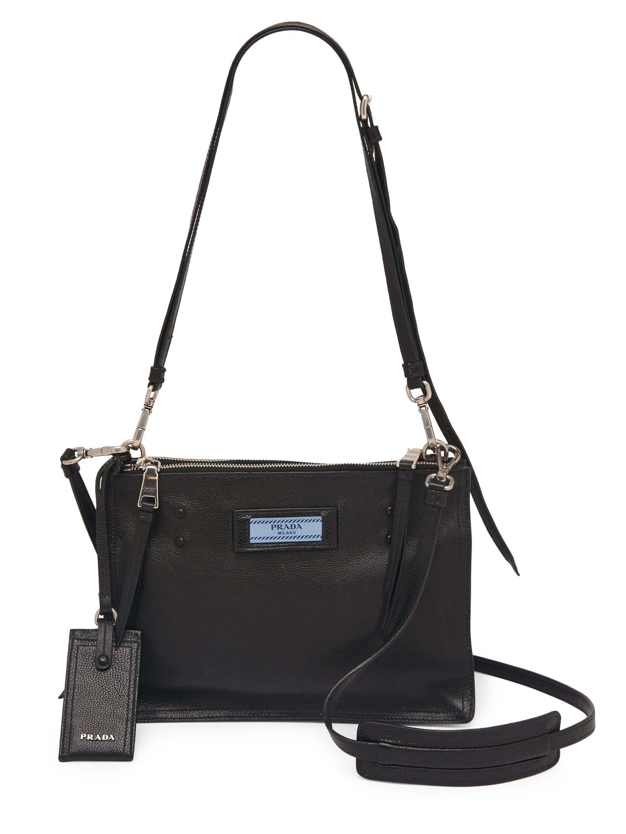 23b8bedf7c3b View Black Prada Bag Lyst Fullscreen Crossbody Etiquette 4nqwvX