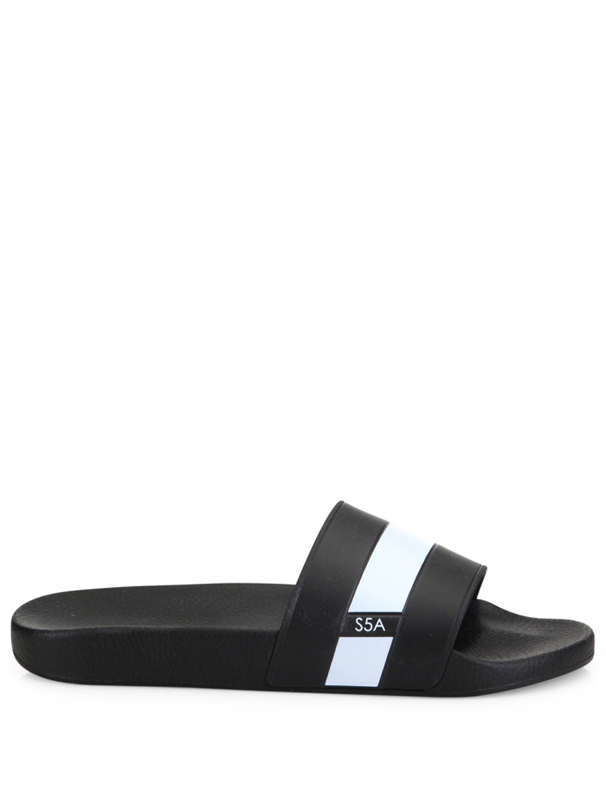 Saks Fifth Avenue COLLECTION Striped Slides nGCOV23kWk