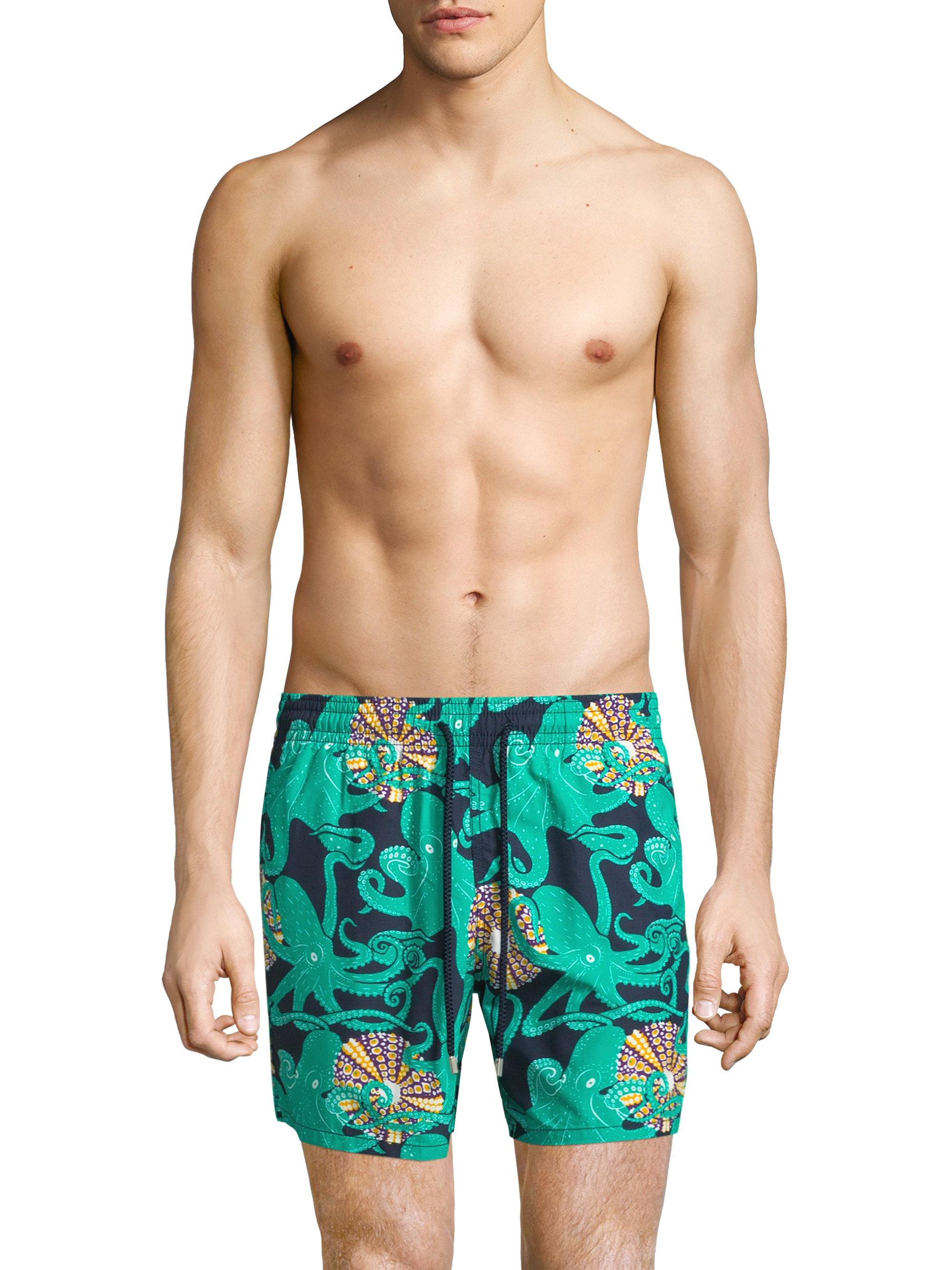 601f17b0e9942 Vilebrequin Octopus Coquillages Trunks in Blue for Men - Save 6% - Lyst