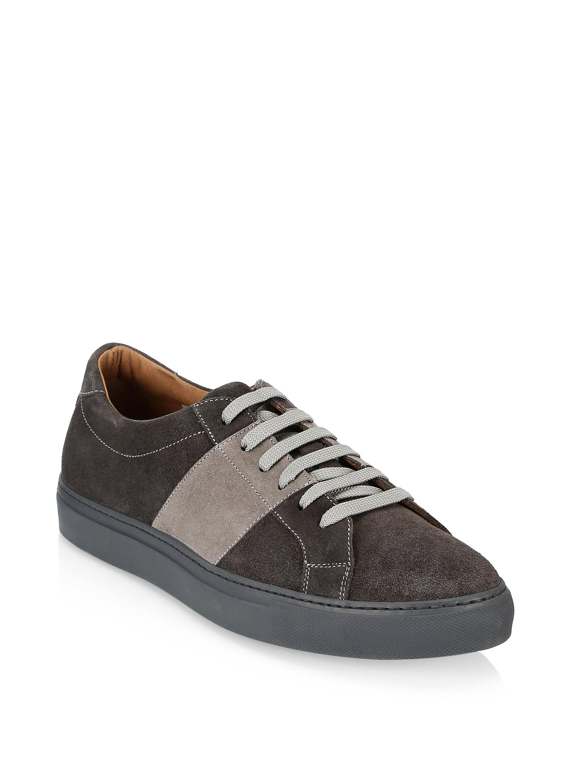 Saks Fifth Avenue COLLECTION Mixed Media Suede Sneakers Yt1wYKZ