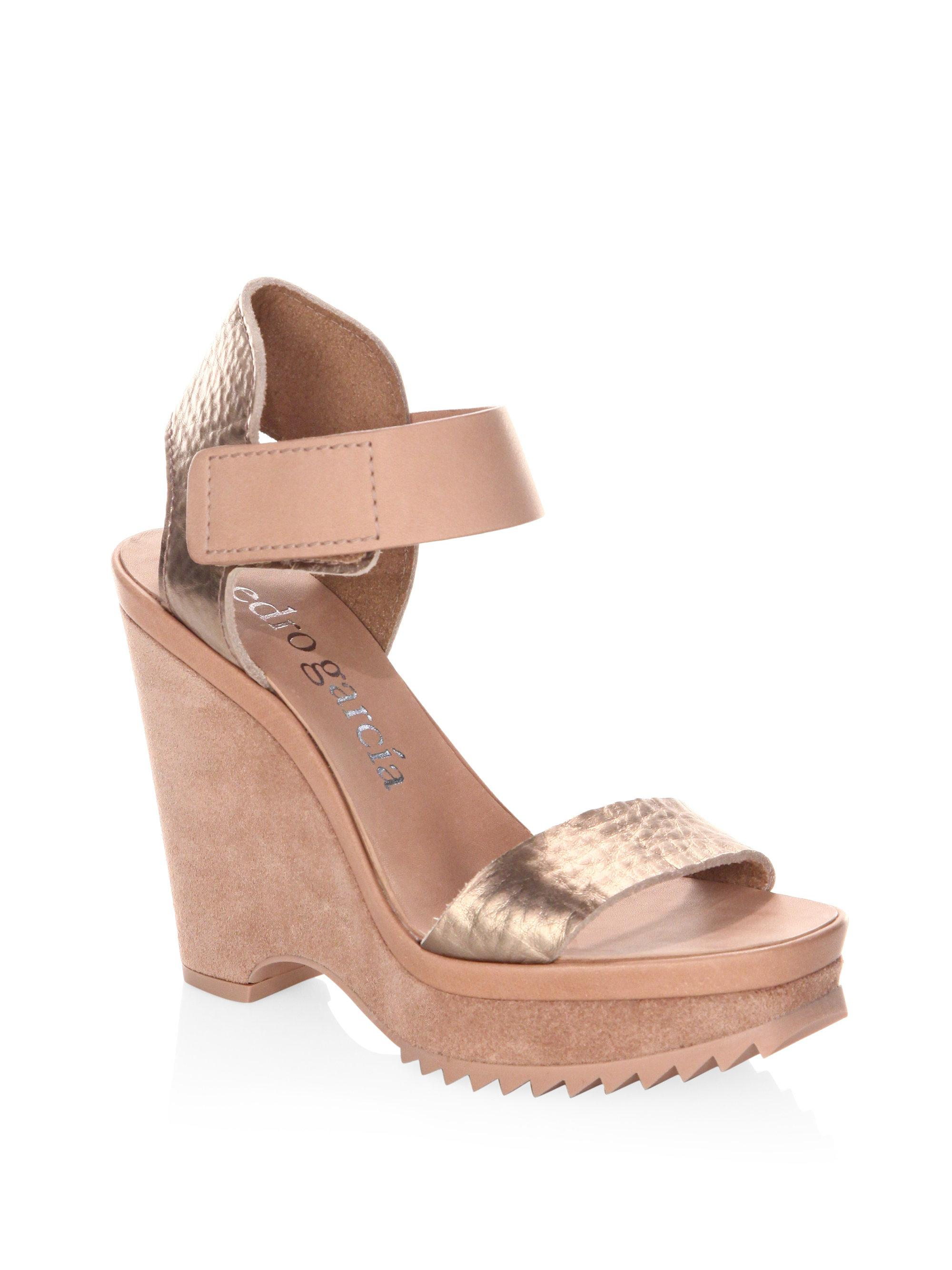 Pedro Garcia Franses Leather Platform Wedge Sandals j4qiXhm