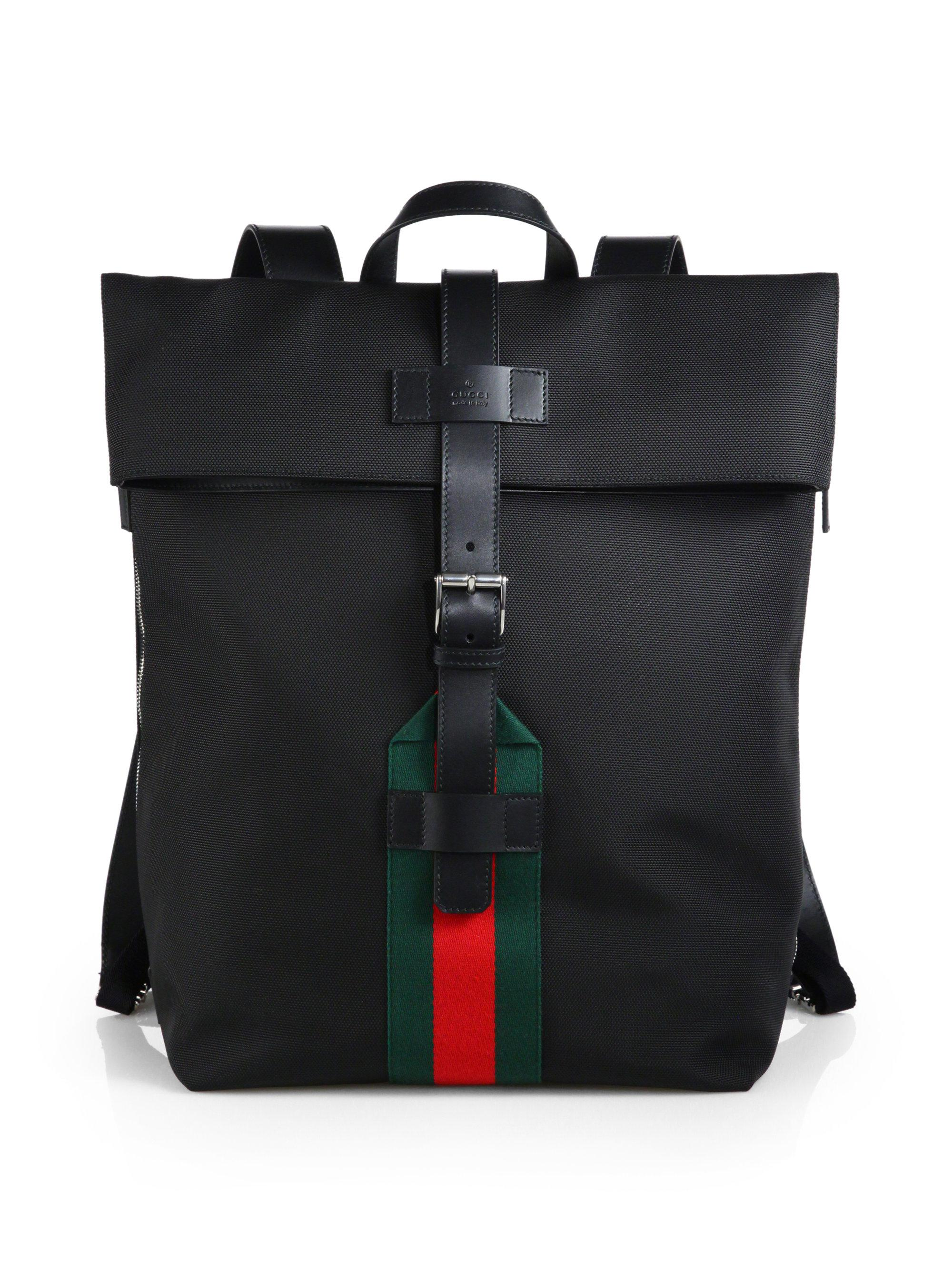 1c41504ad Gucci Techno Canvas Backpack in Black for Men - Lyst