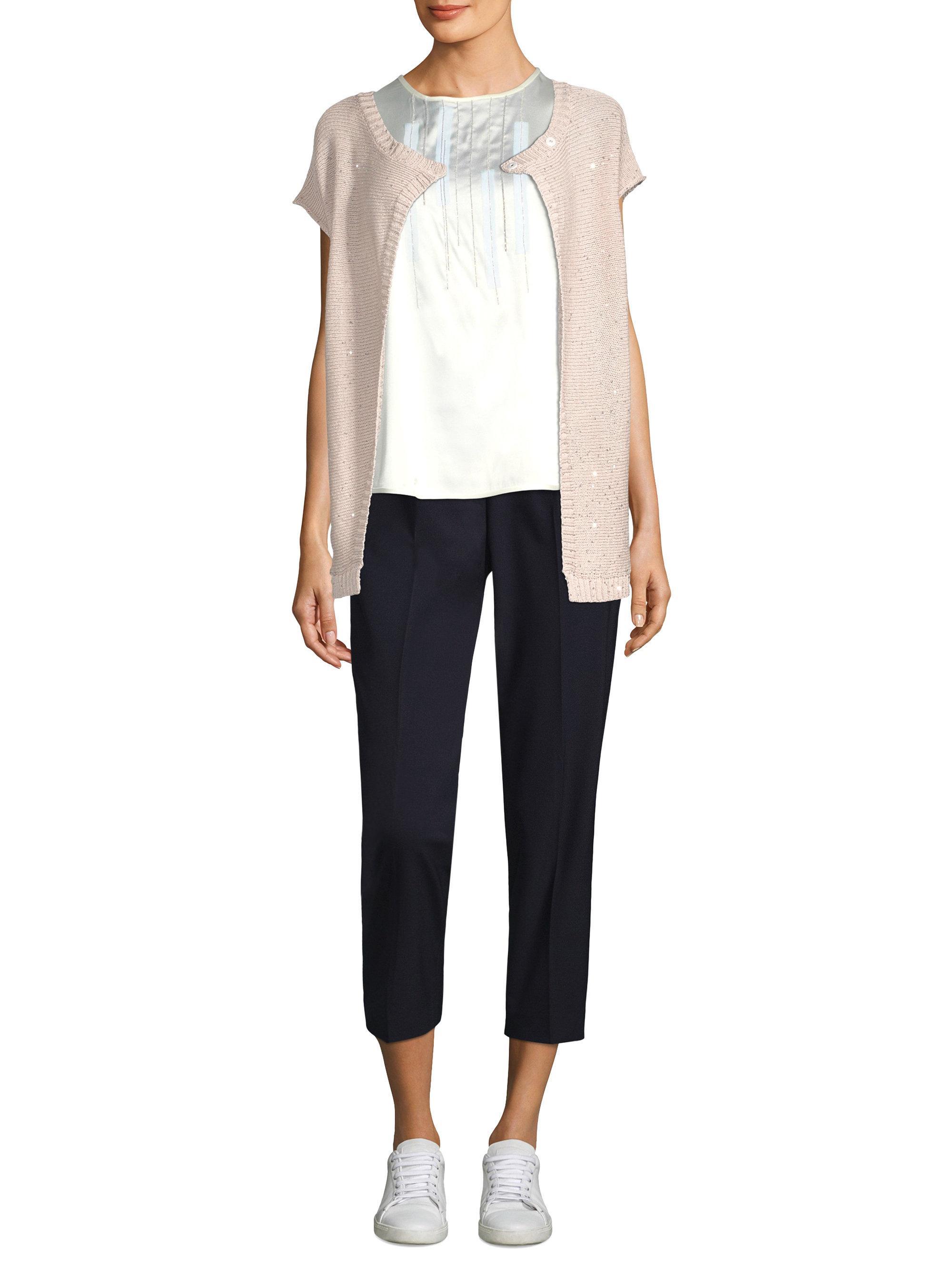 Peserico Short -sleeve Cotton Cardigan | Lyst