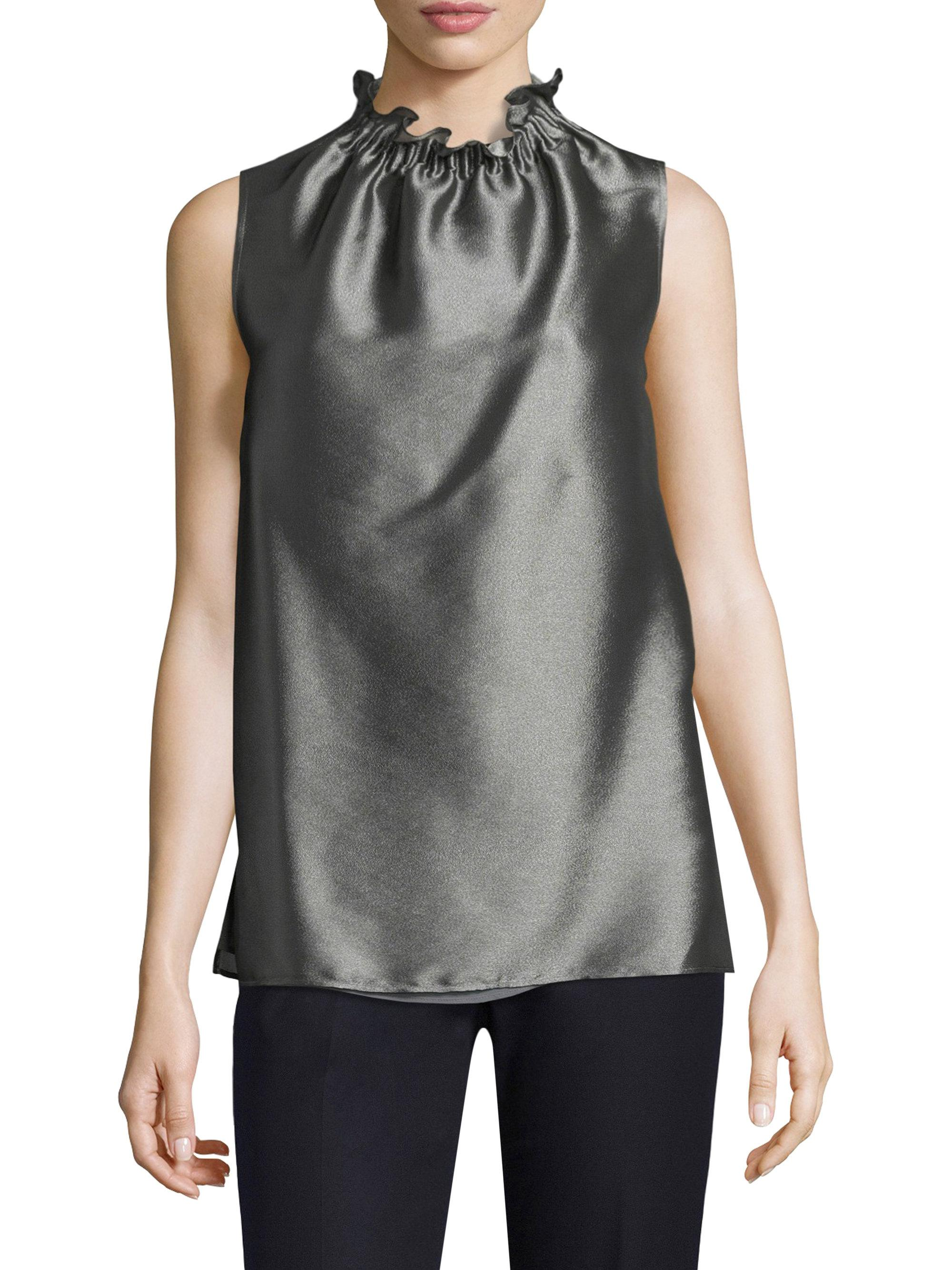 148 Best Images About Craft Ideas For Girls On Pinterest: Lafayette 148 New York Percy Sleeveless Top In Black