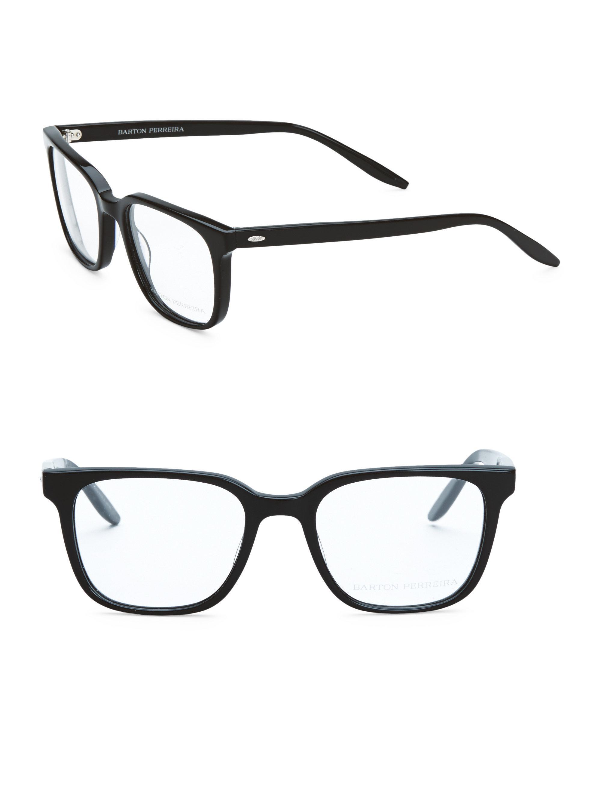 9010486073 Barton Perreira Joe Black 52mm Optical Glasses in Black for Men - Lyst