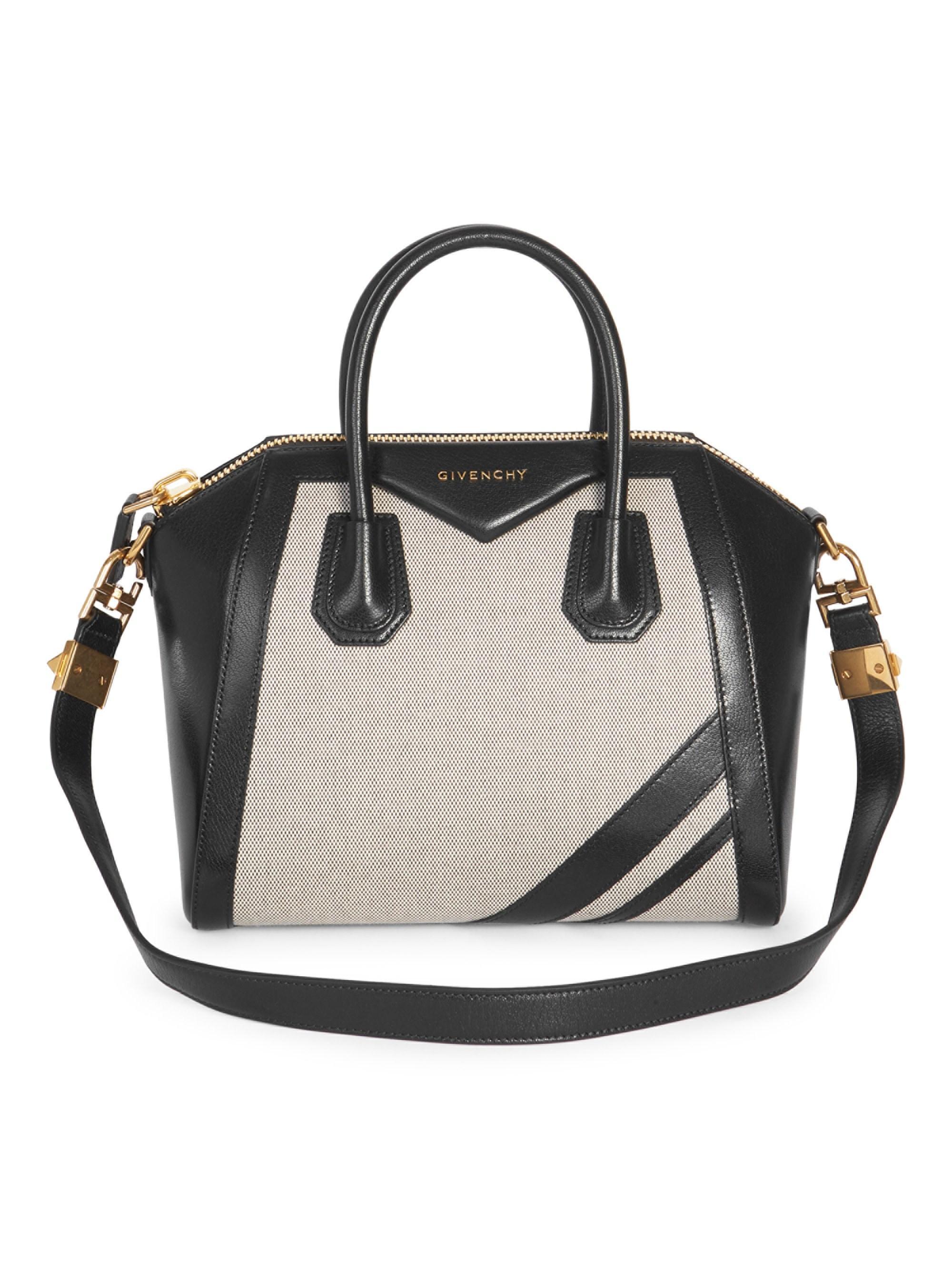 437734264e0b Givenchy - Black Leather   Canvas Stripe Antigona Bag - Lyst. View  fullscreen
