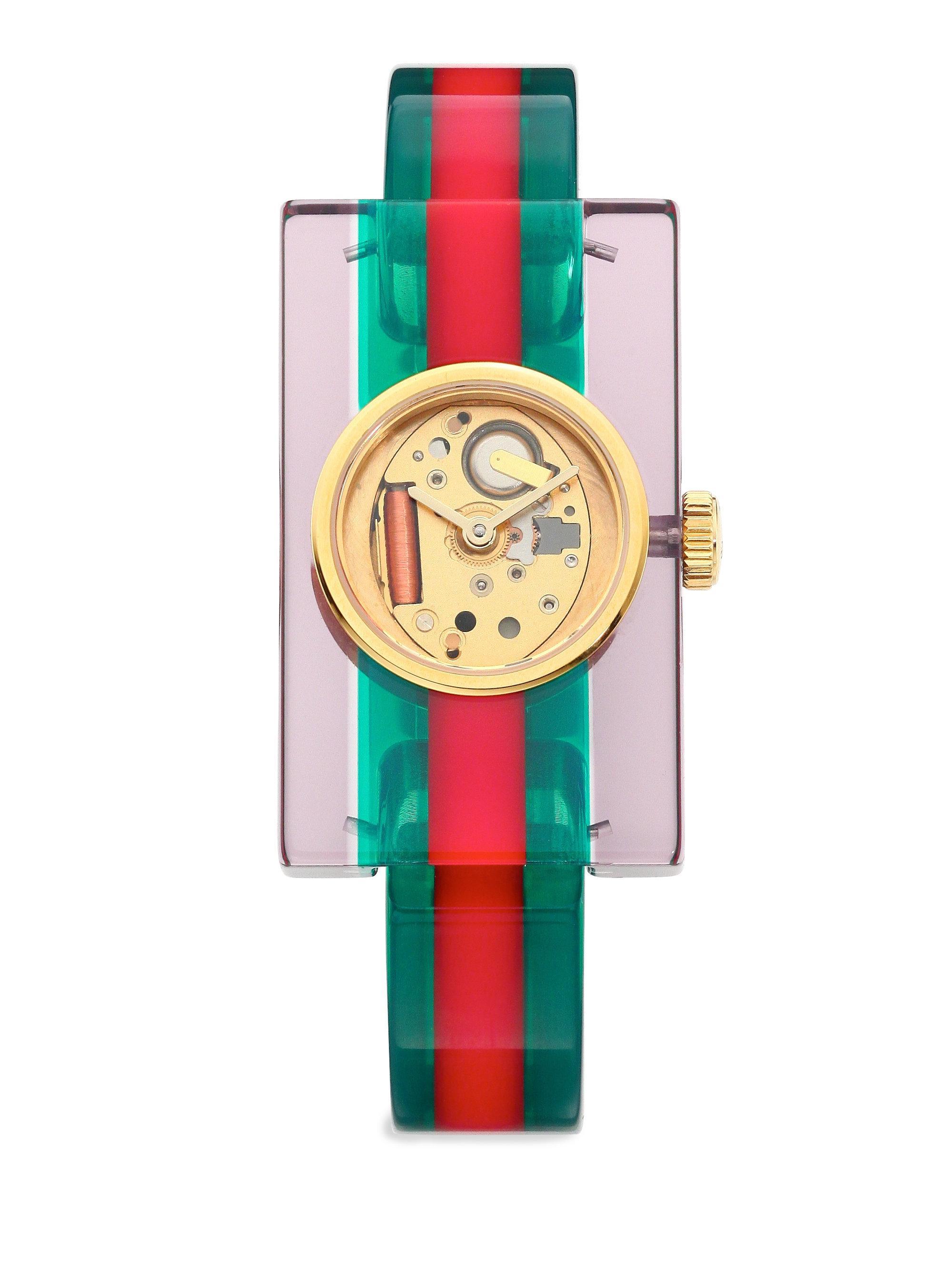 6bbd605c7a8 Gucci Transparent Plexiglas Bangle Watch - Save 18% - Lyst