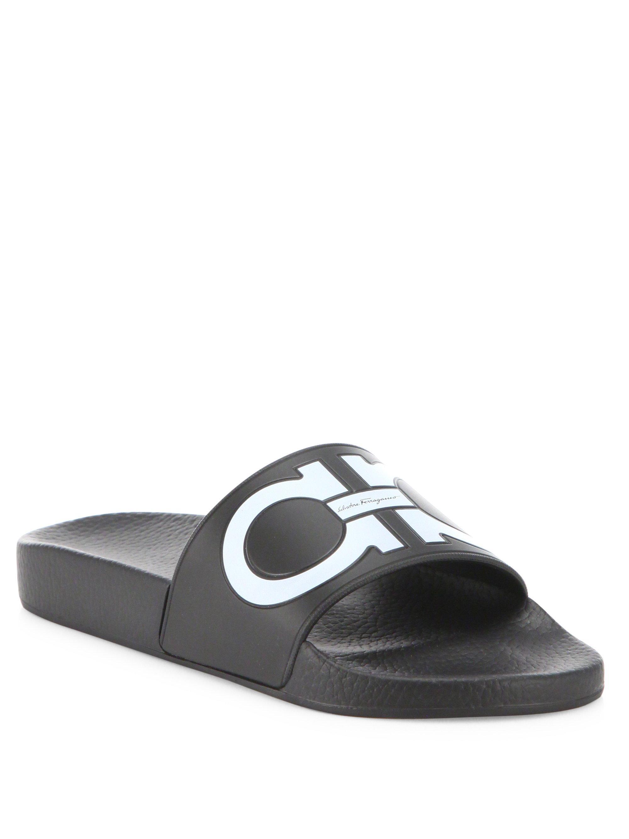 e622ad3537b7 Ferragamo Groove Slide Sandal in Black - Save 9.407665505226475% - Lyst
