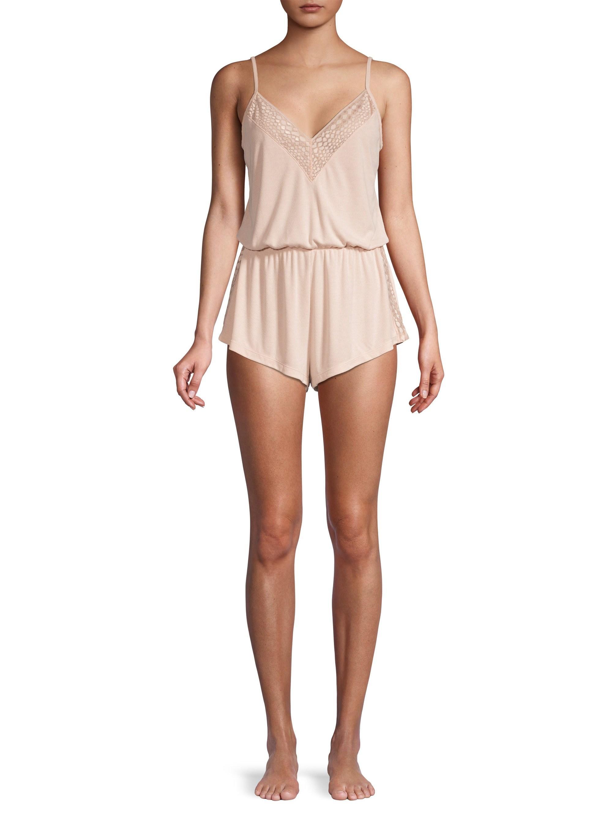 9c7f246ac1d8 Cosabella - Women s Sweet Dreams Lace-trim Sleep Romper - Pink Dust Snake -  Size. View fullscreen