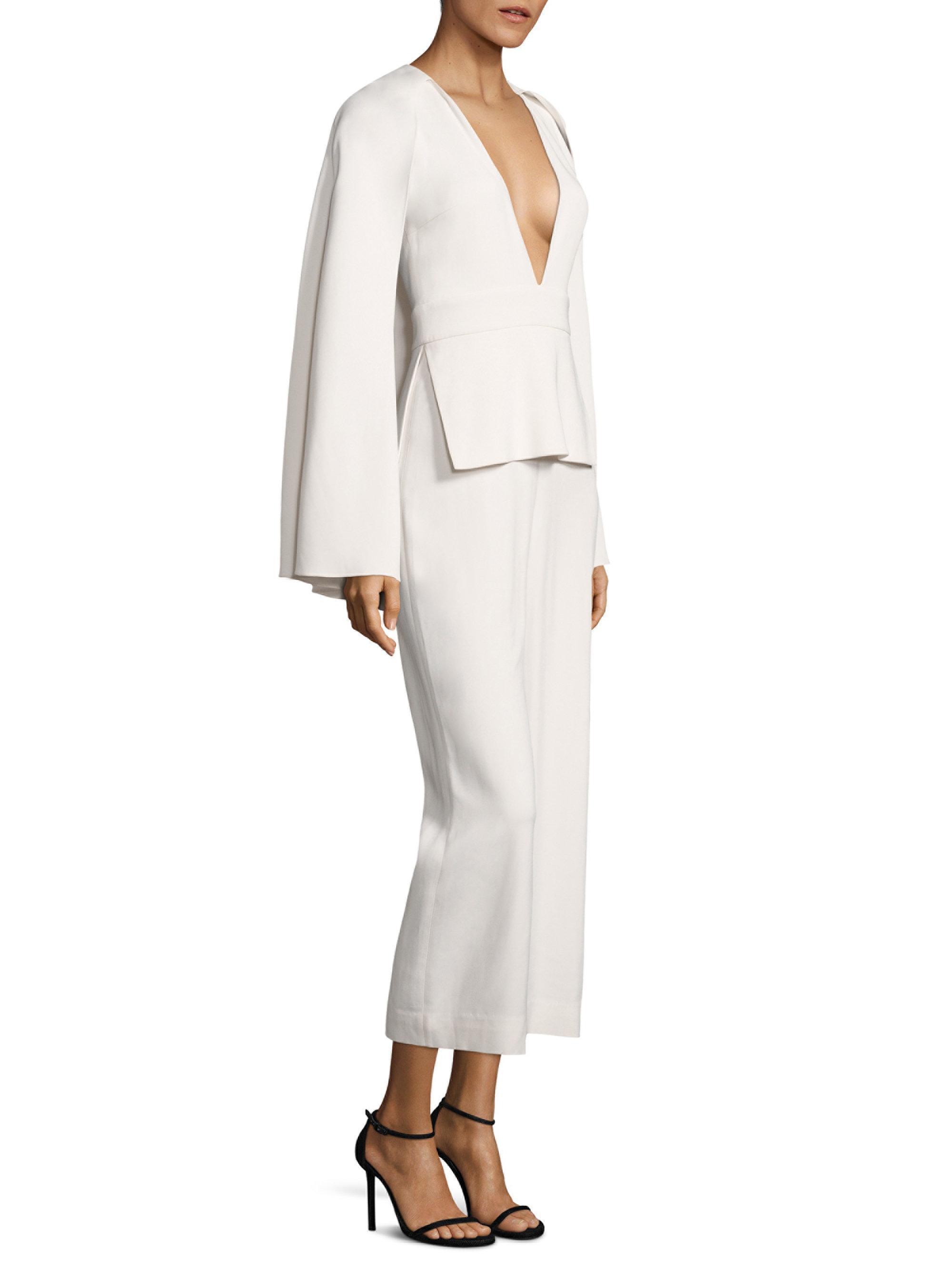 e9492a9d84e9 Lyst - Cushnie et Ochs Scarlett Woven Jumpsuit in White