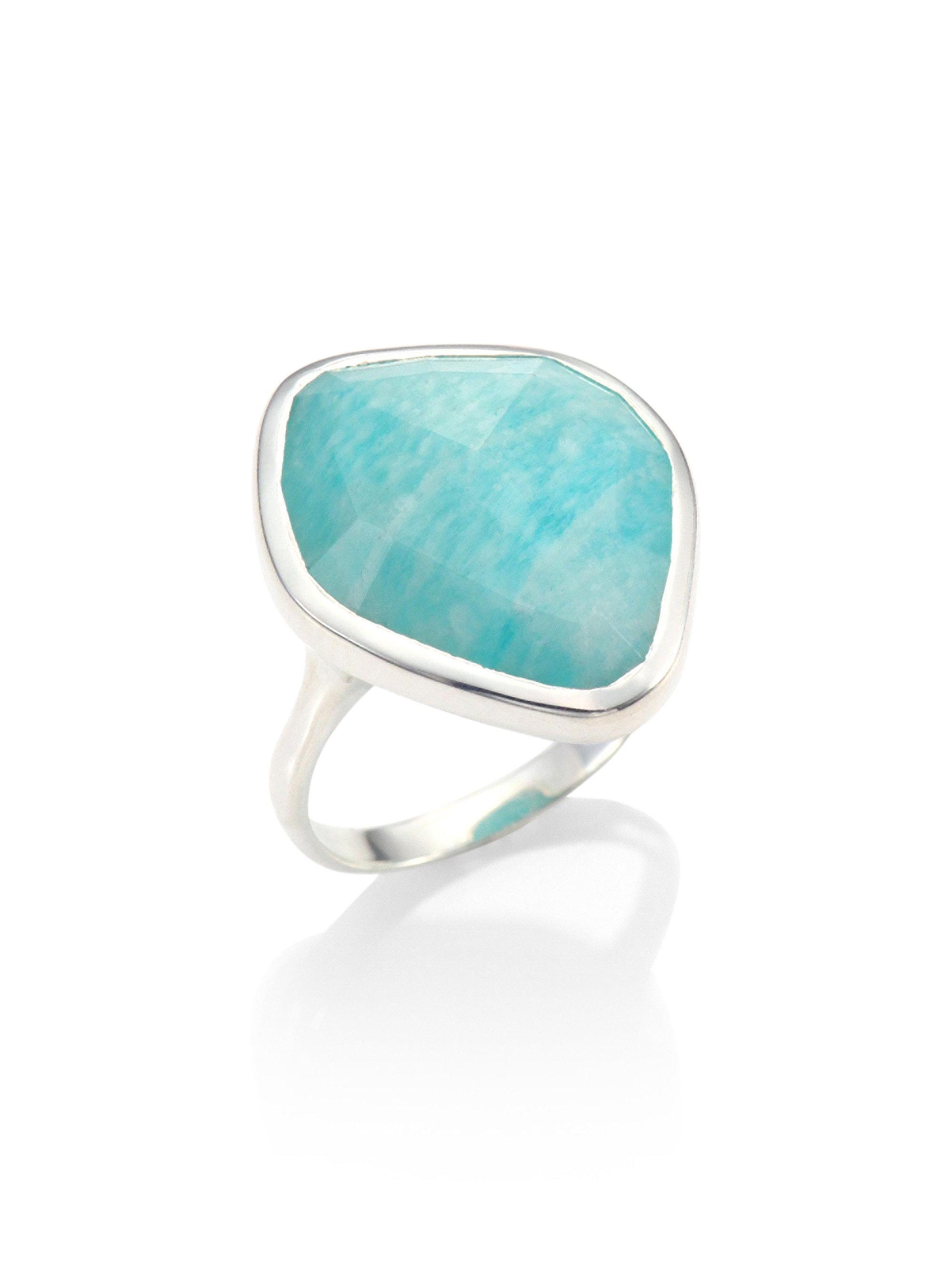 Sterling Silver Baja Ring Amazonite Monica Vinader hao51b4F