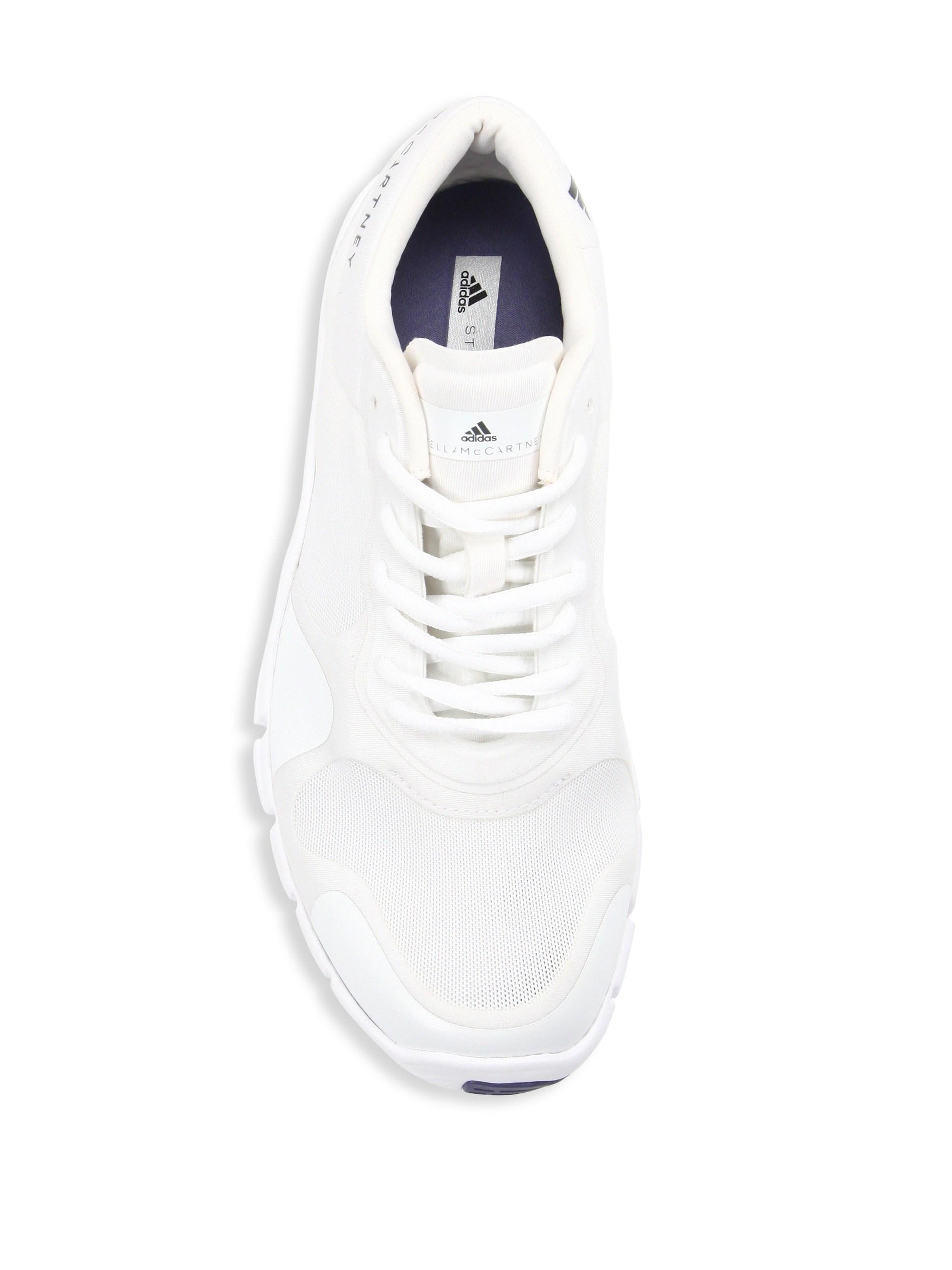 hot sale online aff94 a5f0d Adidas By Stella McCartney - White Adipure Trainer Sneakers - Lyst. View  fullscreen