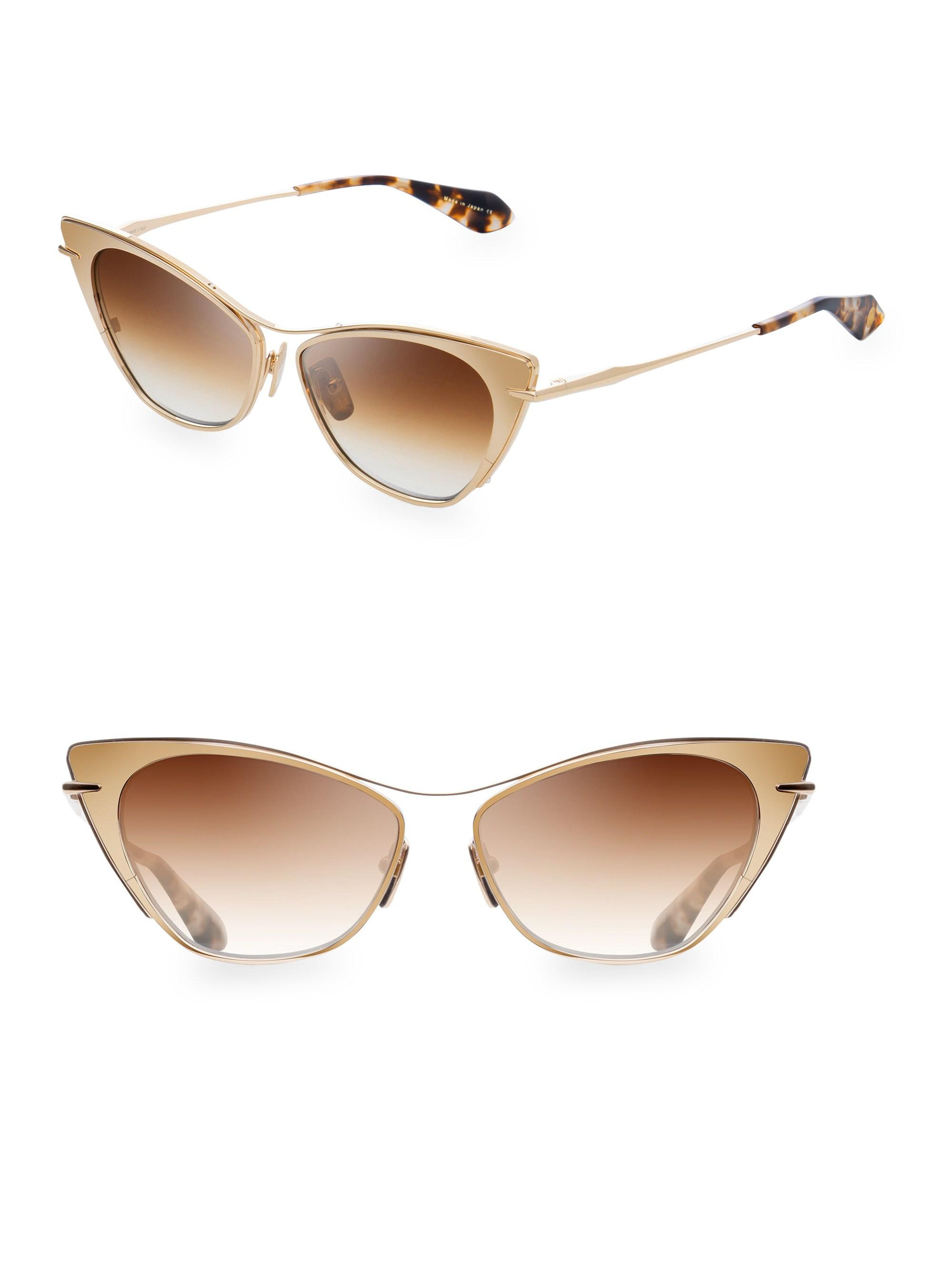 e98ffea3364 Dita Eyewear 56mm Cat Eye Sunglasses in Metallic - Lyst